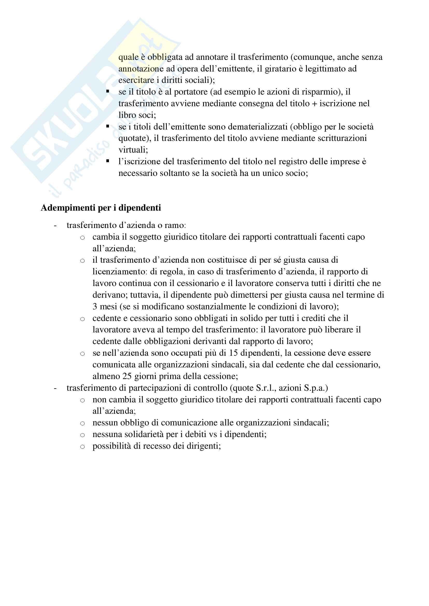 Diritto delle Operazioni Straordinarie (Modulodi Vanetti) Pag. 2