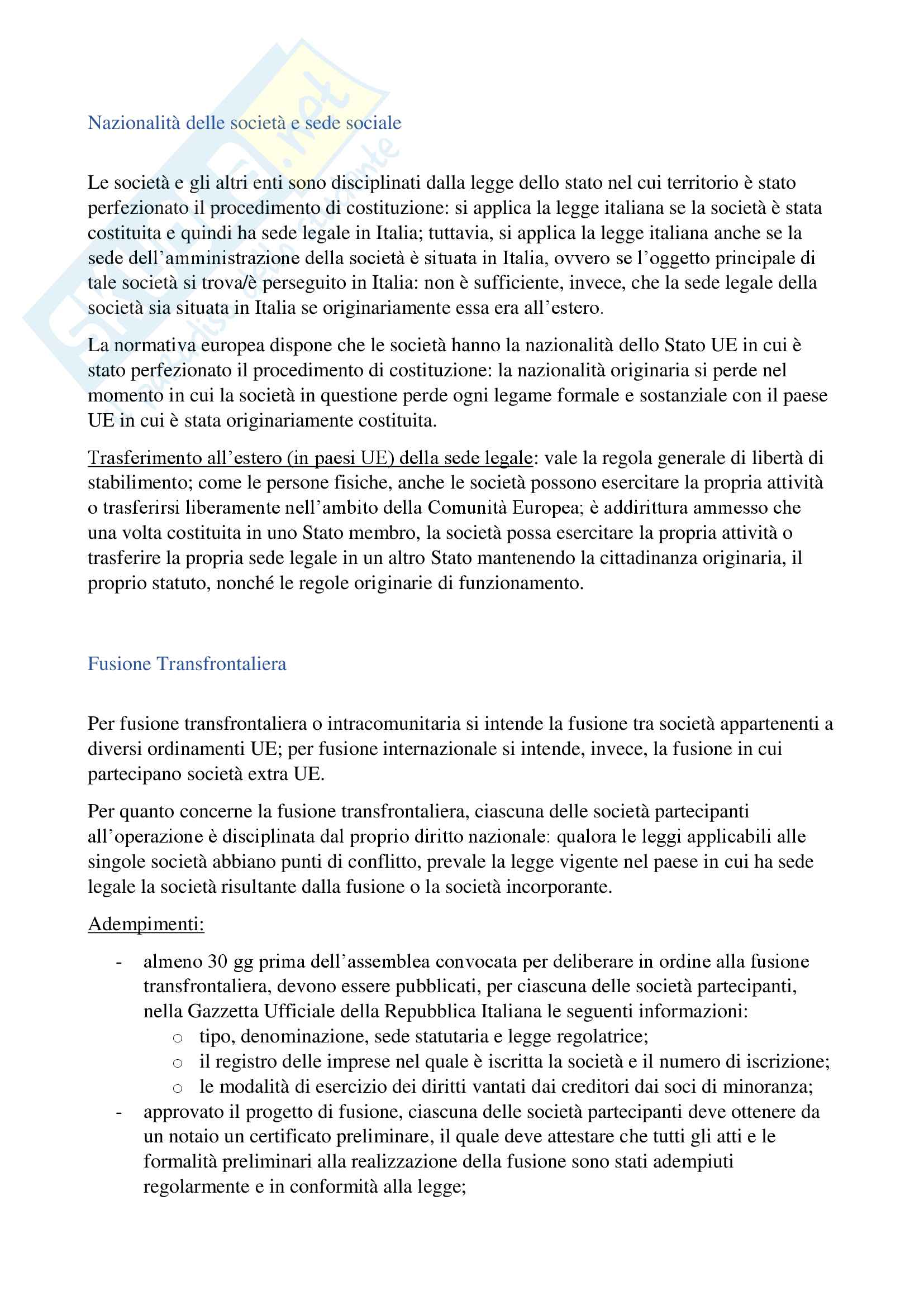 Diritto delle Operazioni Straordinarie (Modulodi Vanetti) Pag. 21