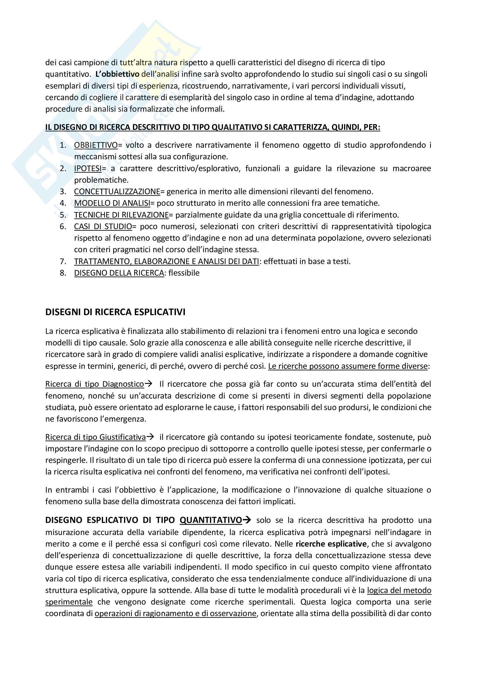 Riassunto esame metodologia della ricerca sociale, Prof Nobile, Prof Fasanella, libro consigliato Il disegno della ricerca sociale, Metodologia della ricerca sociale Pag. 16