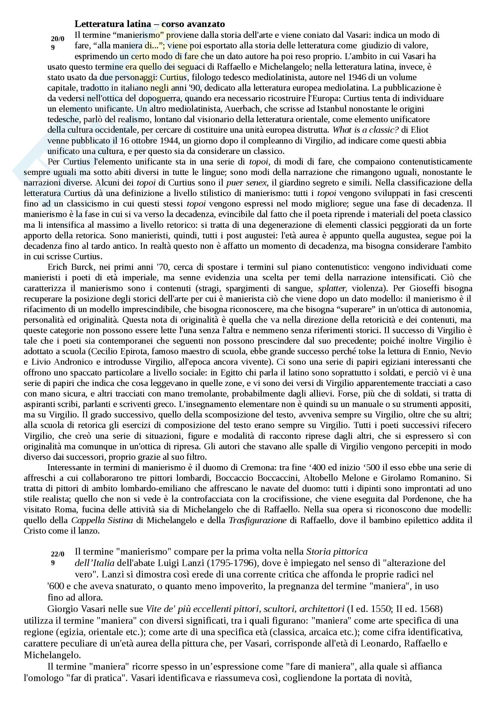Letteratura latina - corso avanzato 2016/17