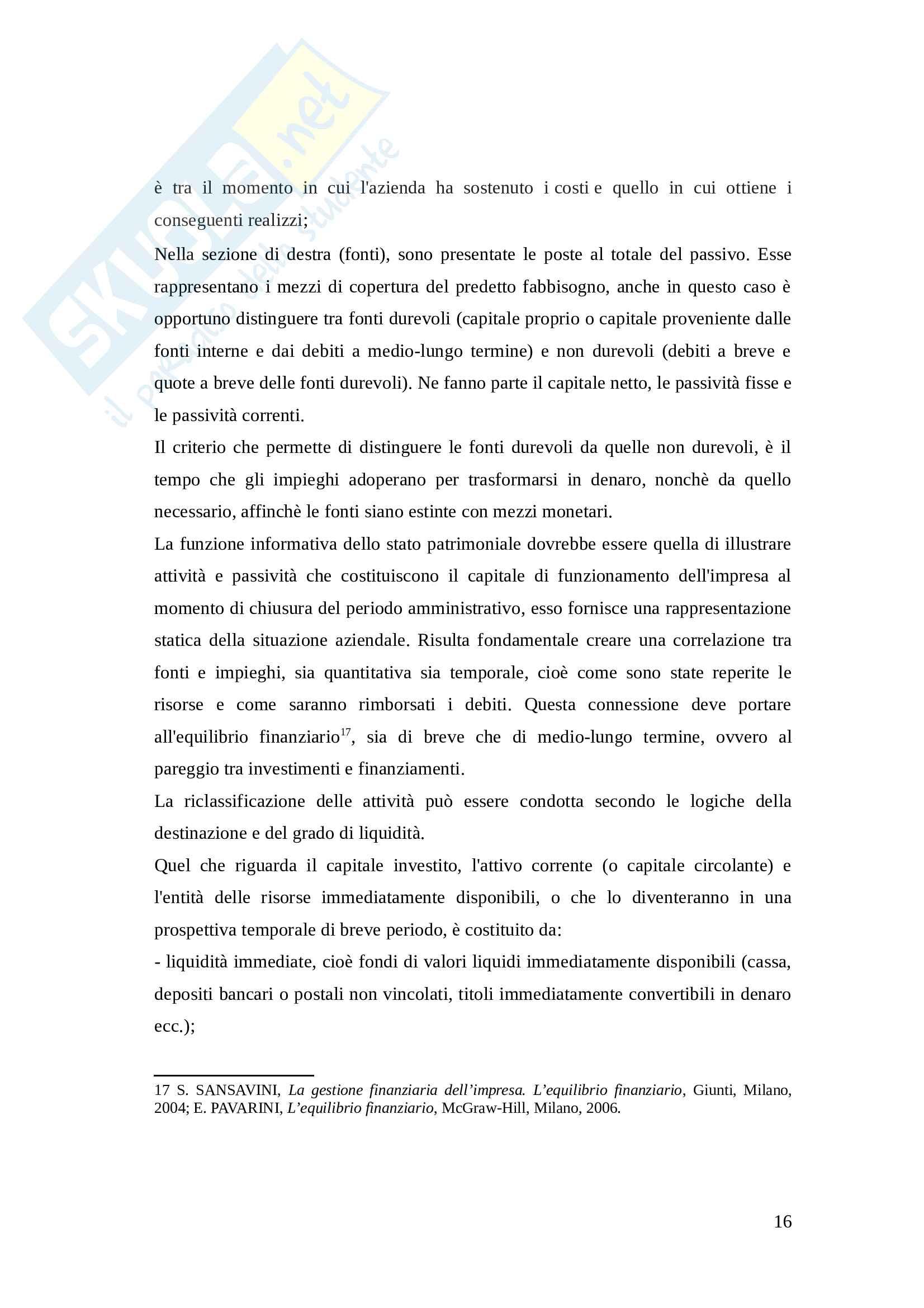 Tesi - Lo strumento dell'analisi di bilancio: il caso Fiat Pag. 16