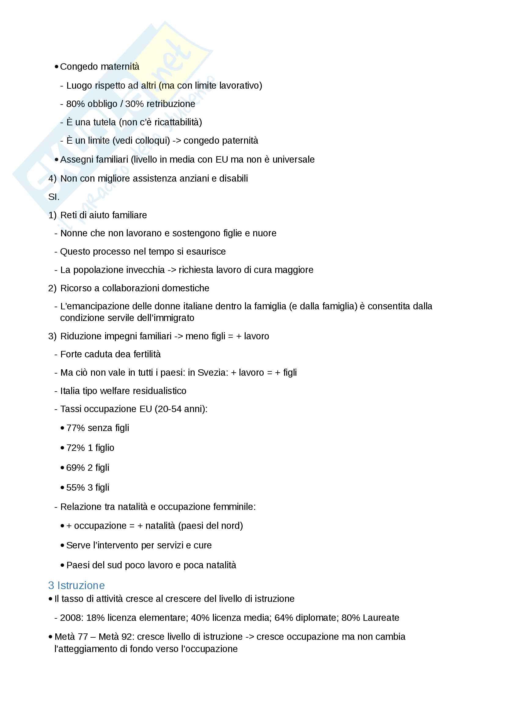Riassunto esame Sociologia del mercato del lavoro, Docente Fullin, libro consigliato Sociologia del mercato del lavoro, vol. 1. e vol. 2. , Reyneri Pag. 16
