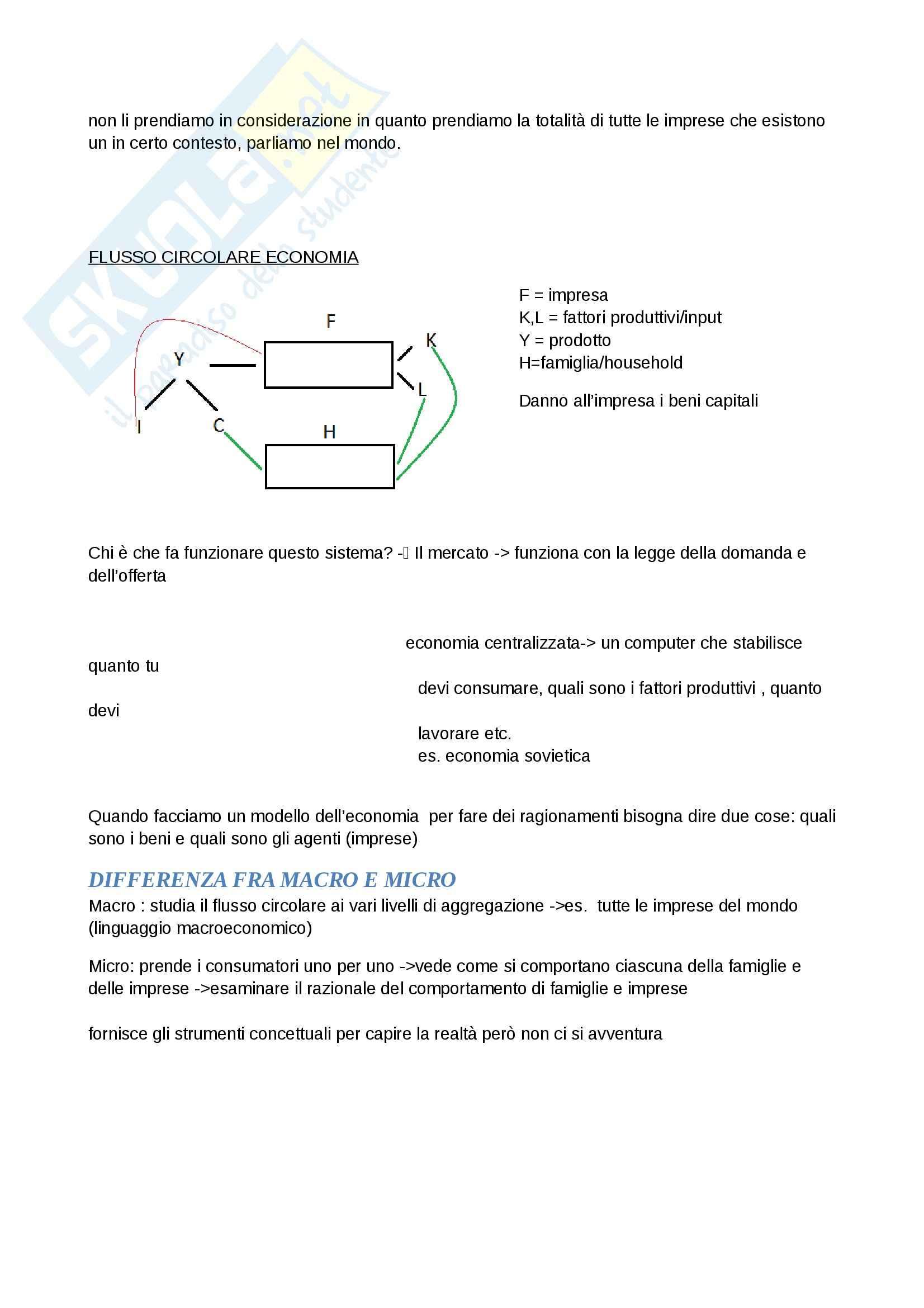 Nozioni, Microeconomia Pag. 2