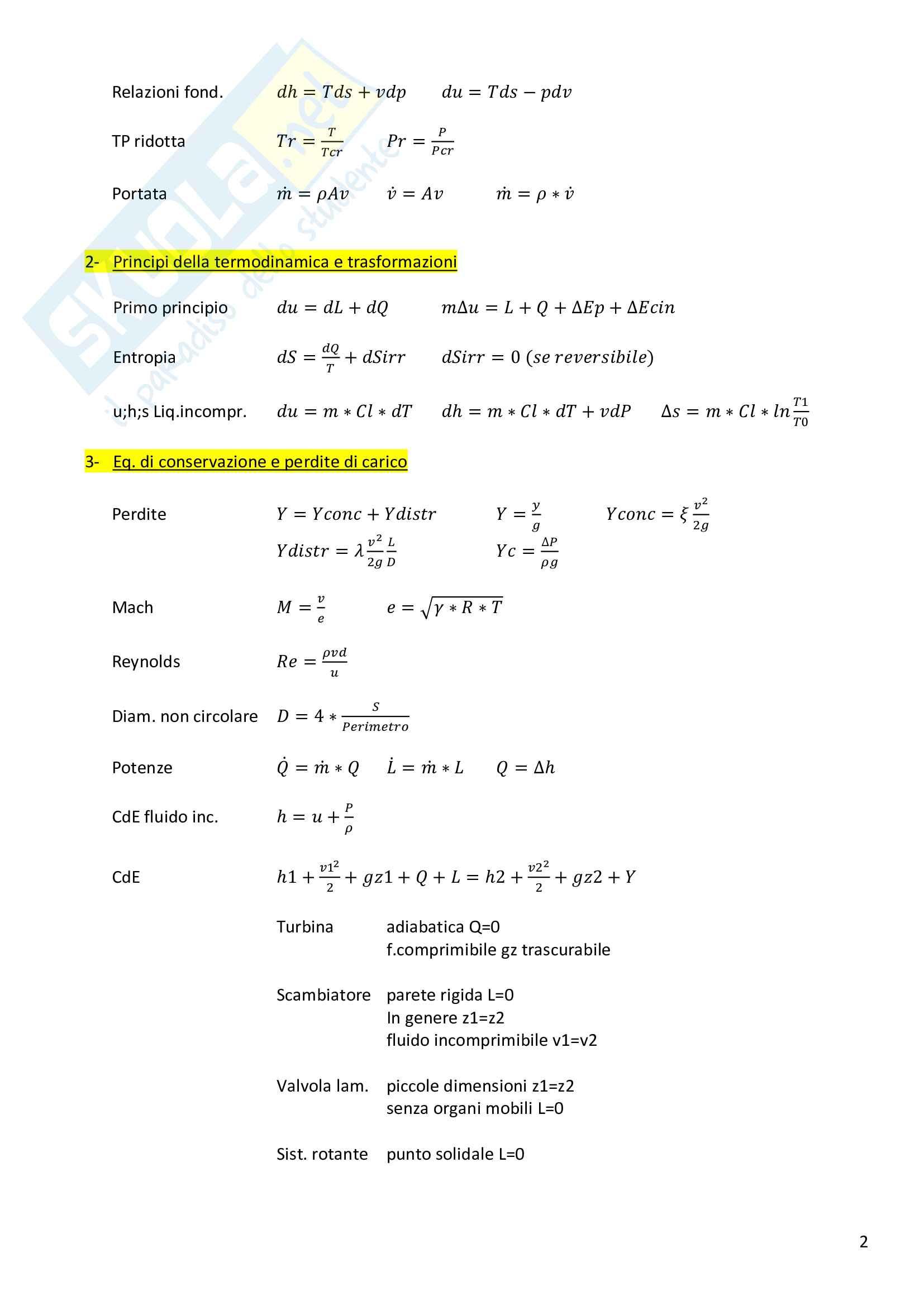 Formulario Fisica Tecnica e Macchine Pag. 2