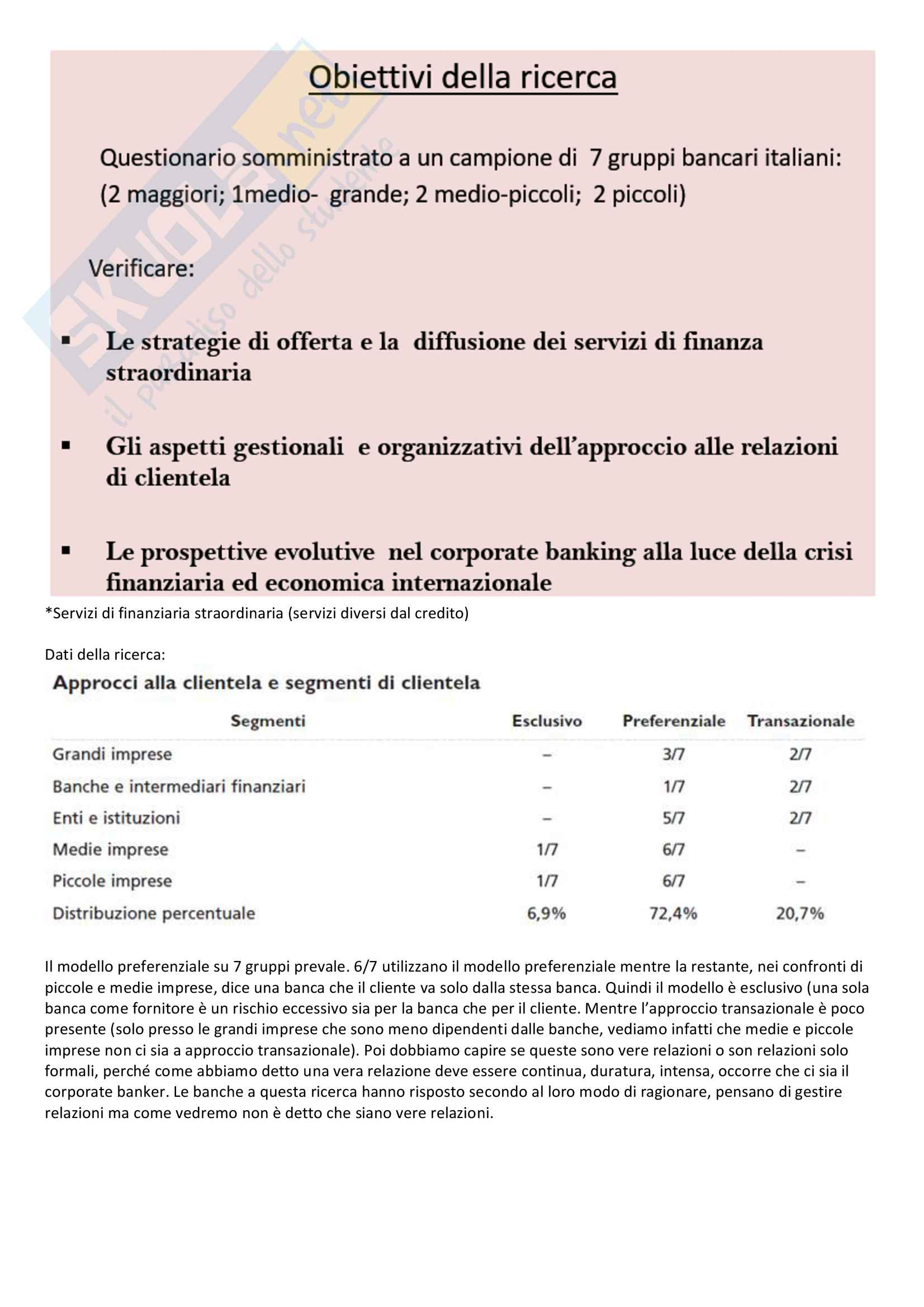 Riassunto Esame Economia e Gestione della banca, Prof Baravelli Pag. 106
