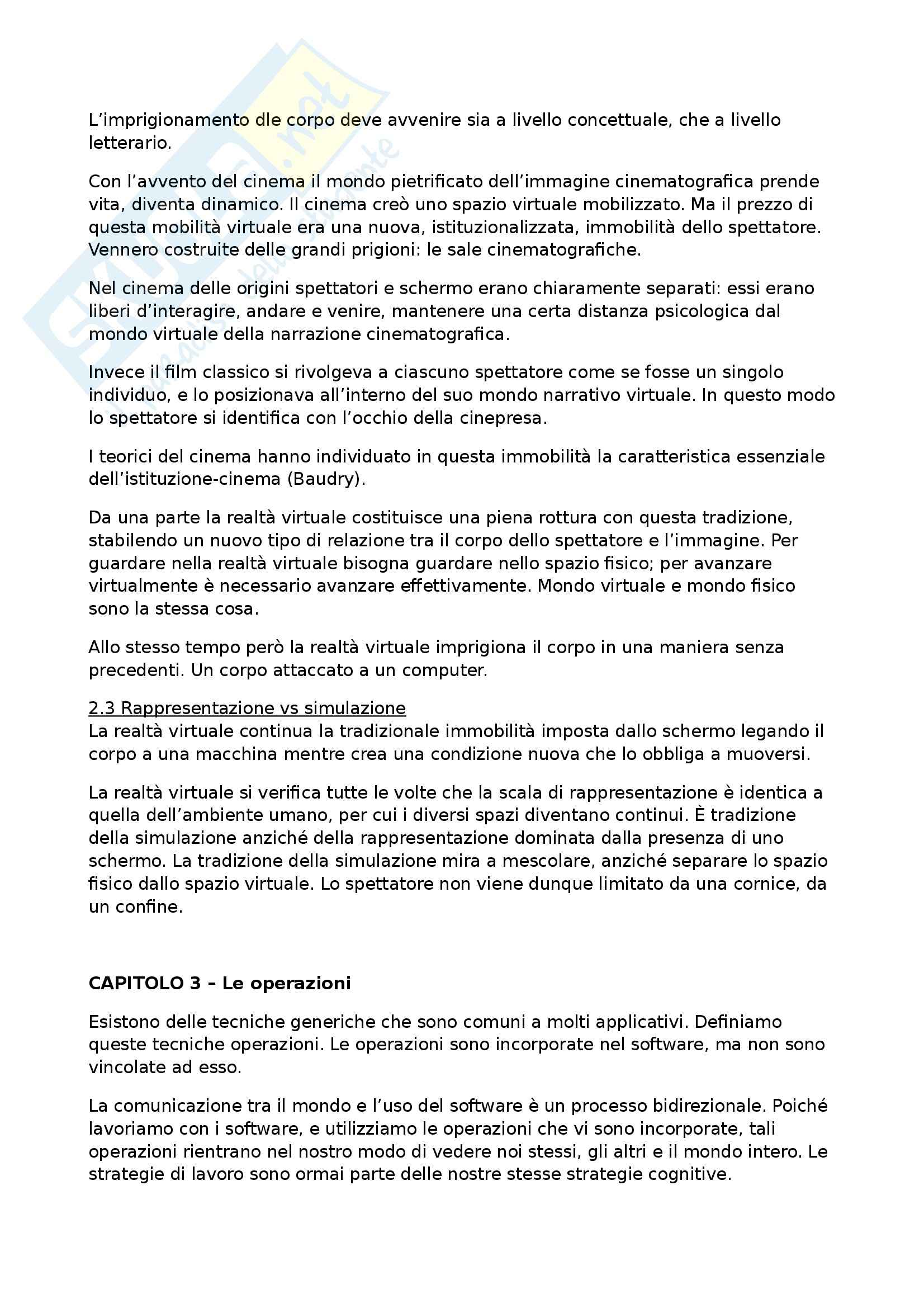 Riassunto esame Mass Media, New Media e Società delle Reti, prof. Pireddu, libro consigliato Il Linguaggio dei Nuovi Media di Manovich Pag. 11