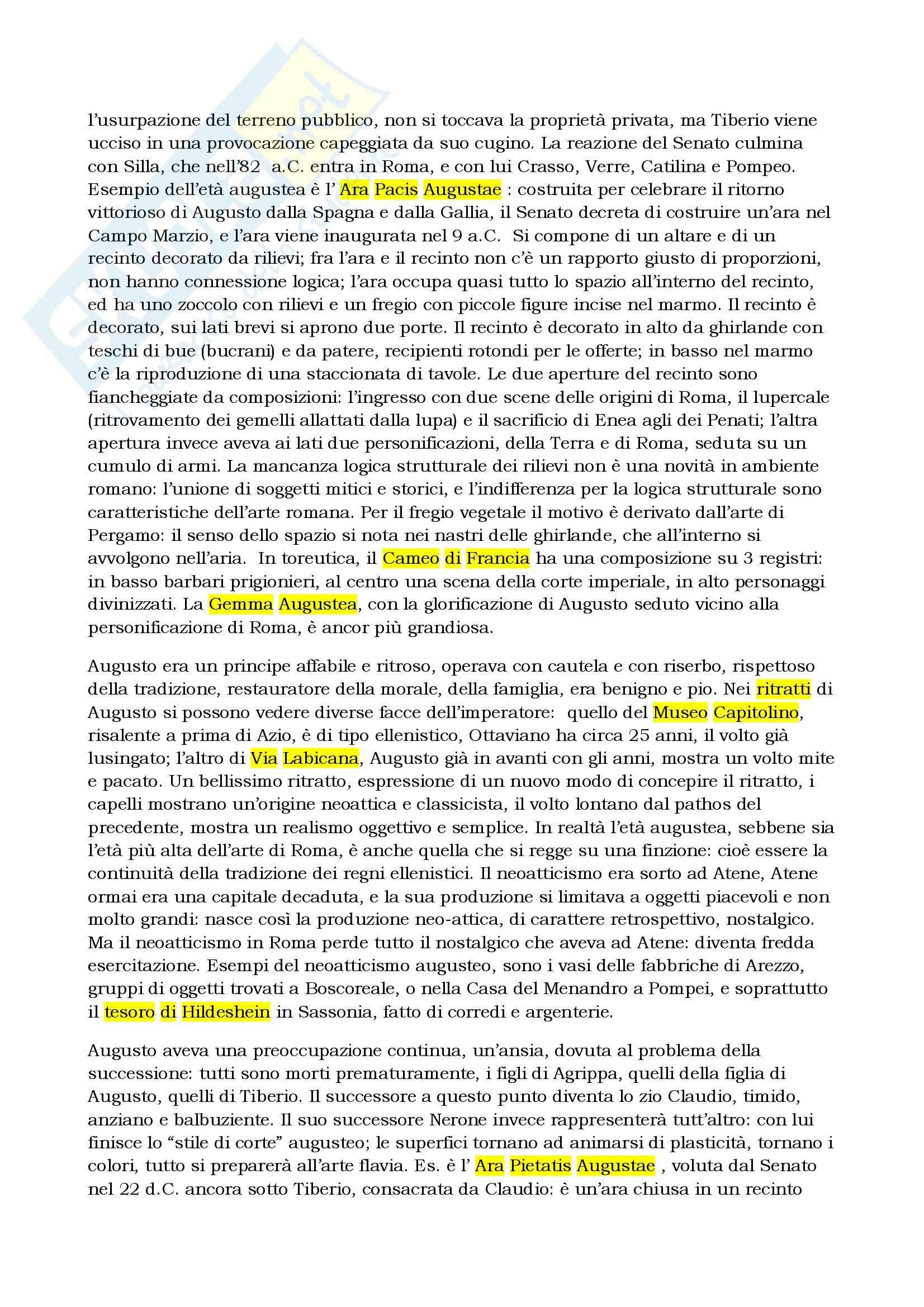 Riassunto esame Archeologia e storia dell'arte romana, prof. Slavazzi, libro consigliato L'arte romana al centro del potere, Bandinelli Pag. 6