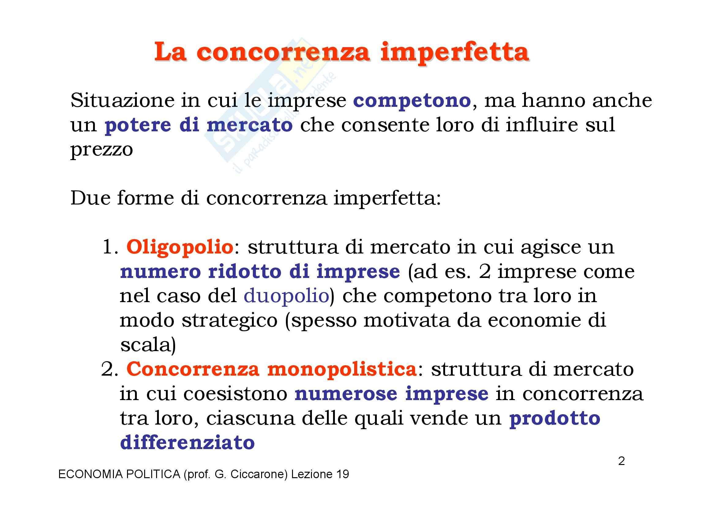 Economia monetaria - la concorrenza imperfetta Pag. 2