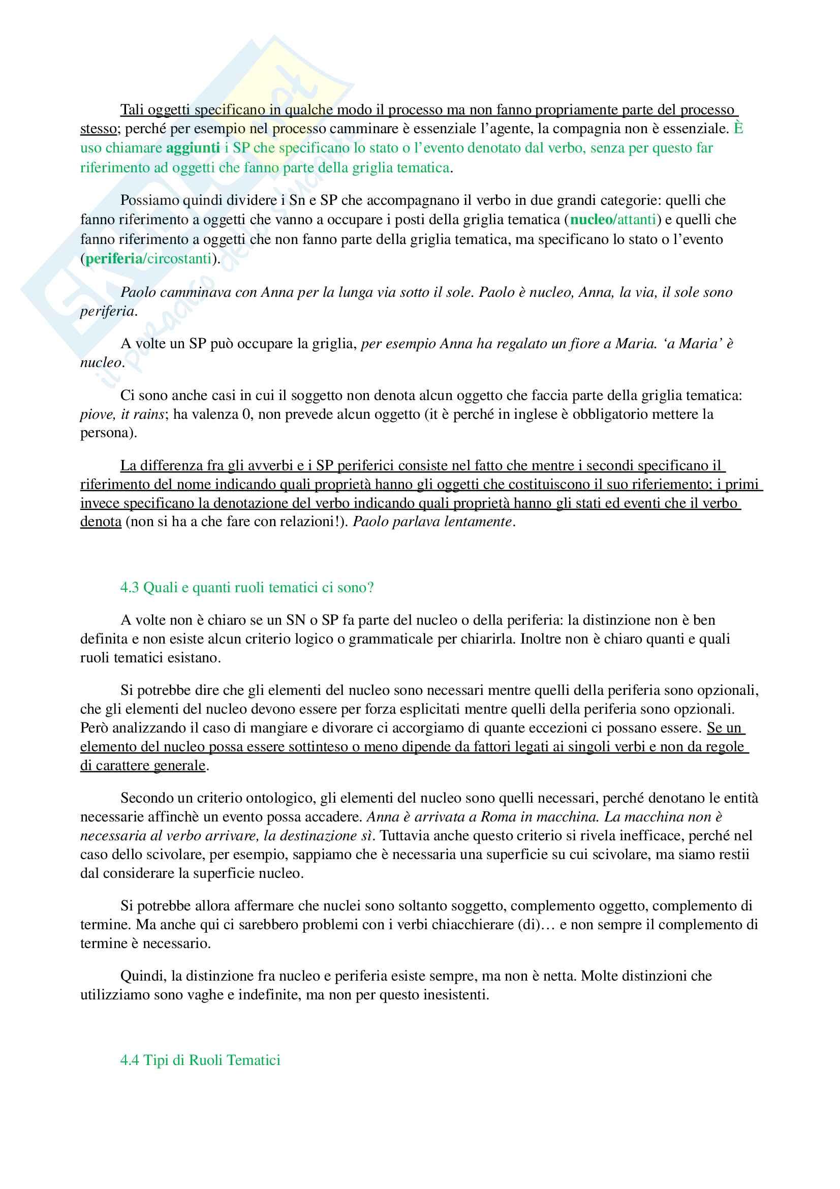 Appunti e riassunti di Semantica, prof. Reynaud, libro consigliato Filosofia del Linguaggio, Aldo Frigerio Pag. 21