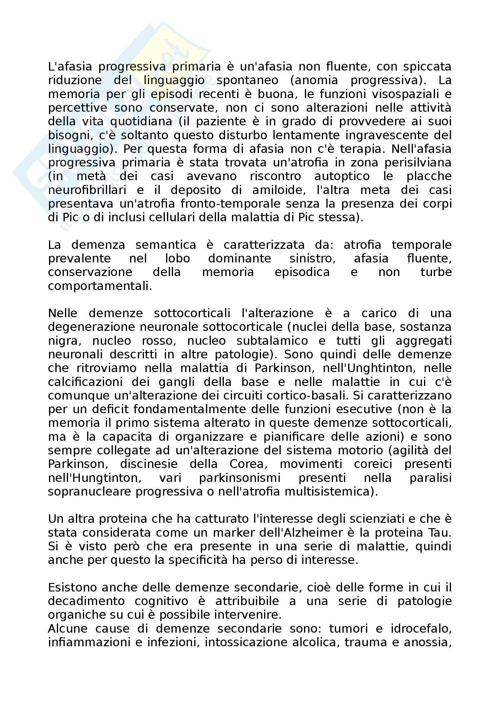 Neurologia - Appunti Pag. 111