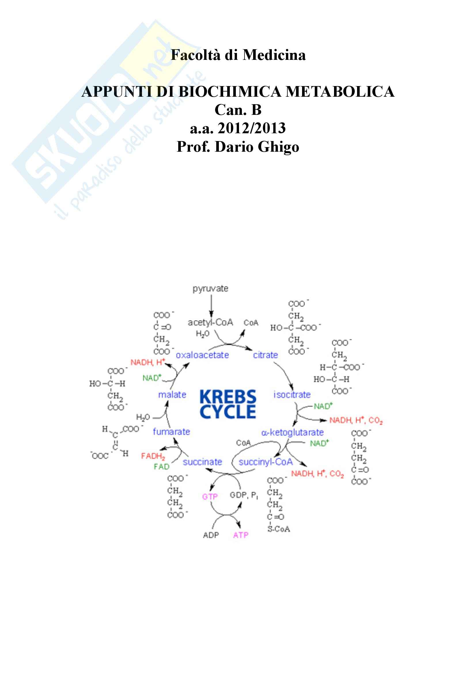 appunto D. Ghigo Biochimica e biologia molecolare