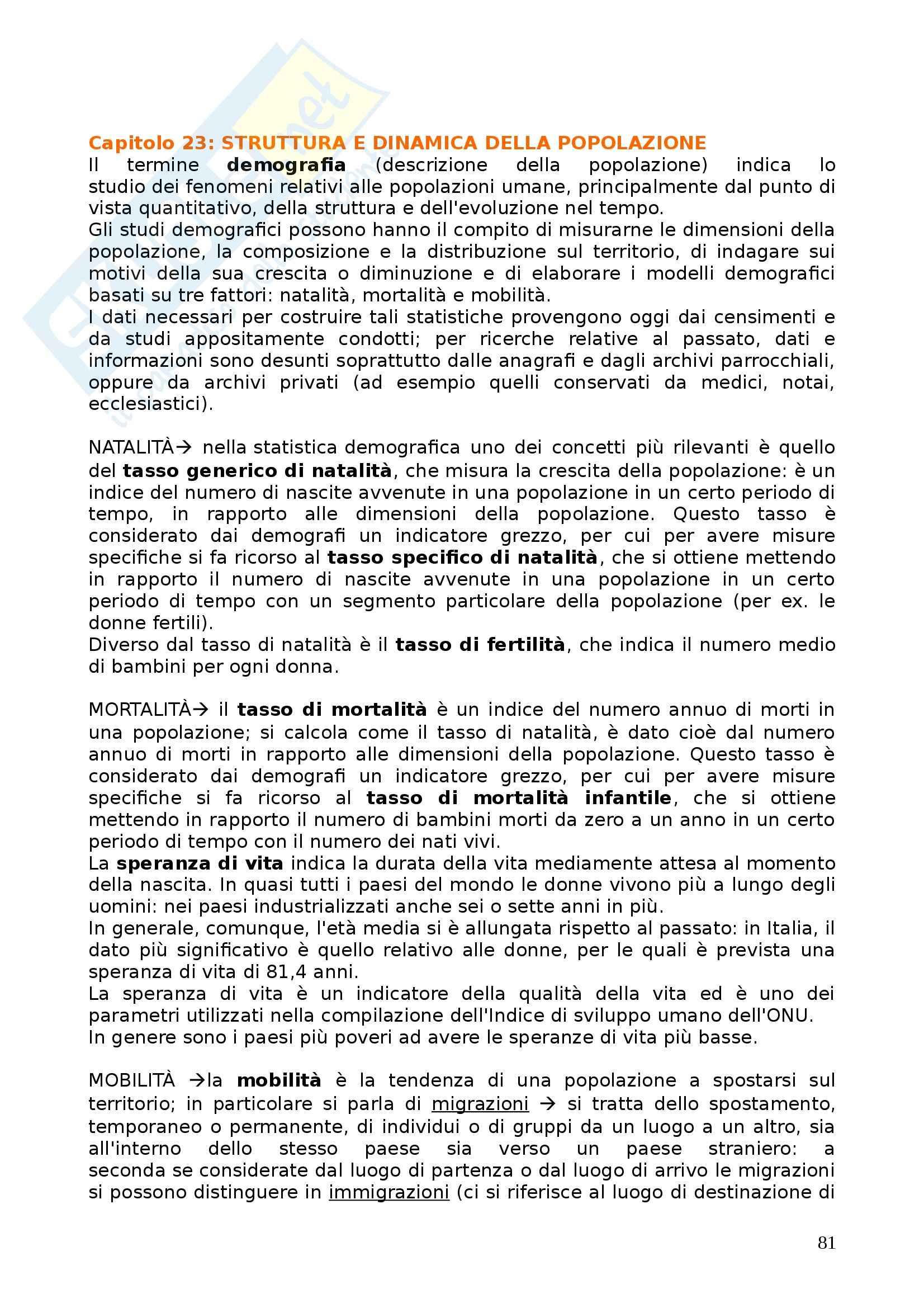 Riassunto esame Sociologia, prof. Dino, libro consigliato Corso di Sociologia di Bagnasco, Barbaglie e Cavalli Pag. 81