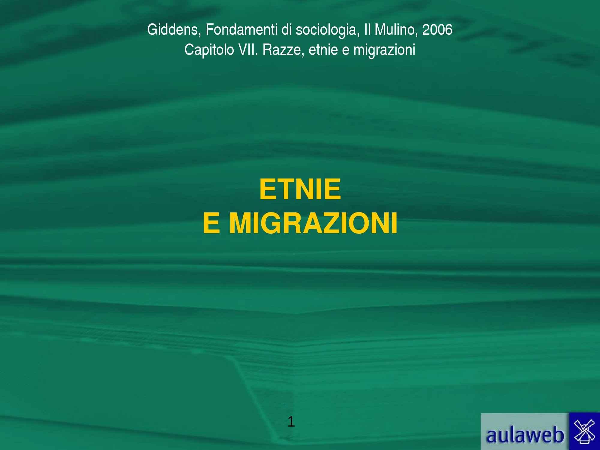 Etnie e migrazioni