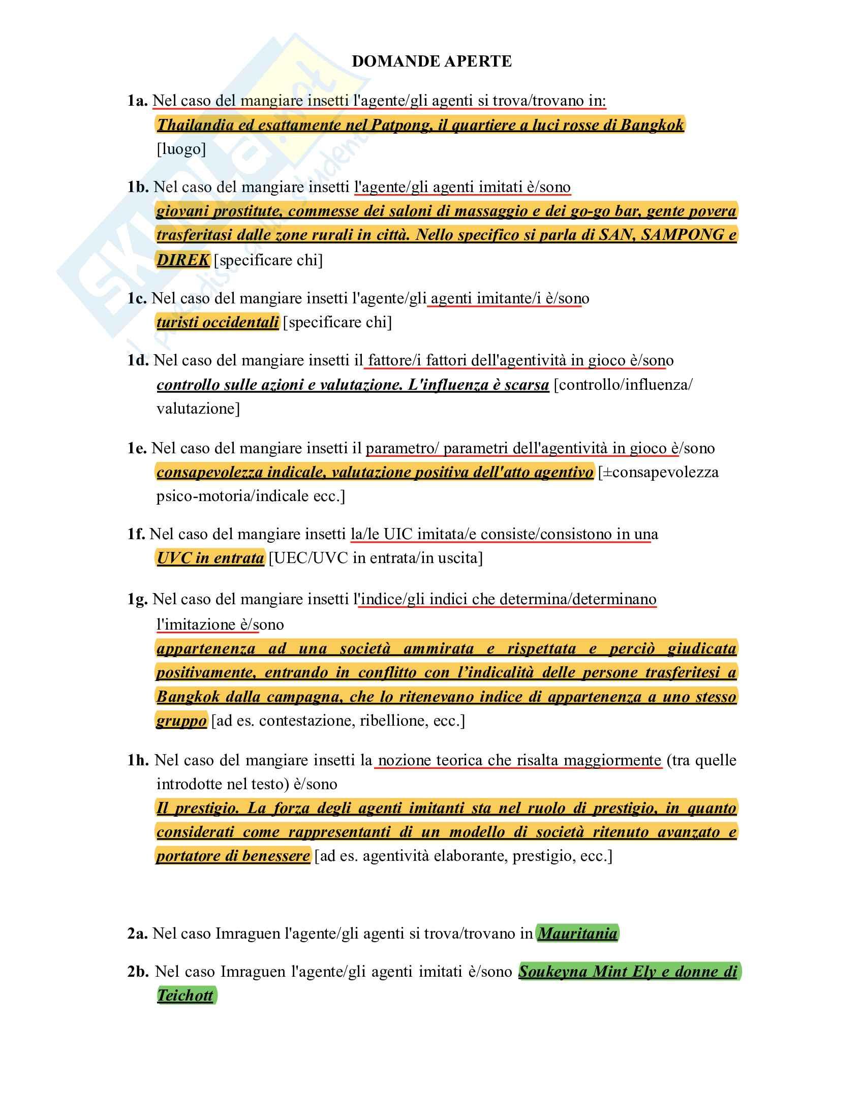 discipline Demoetnoantropoliche 25 casi