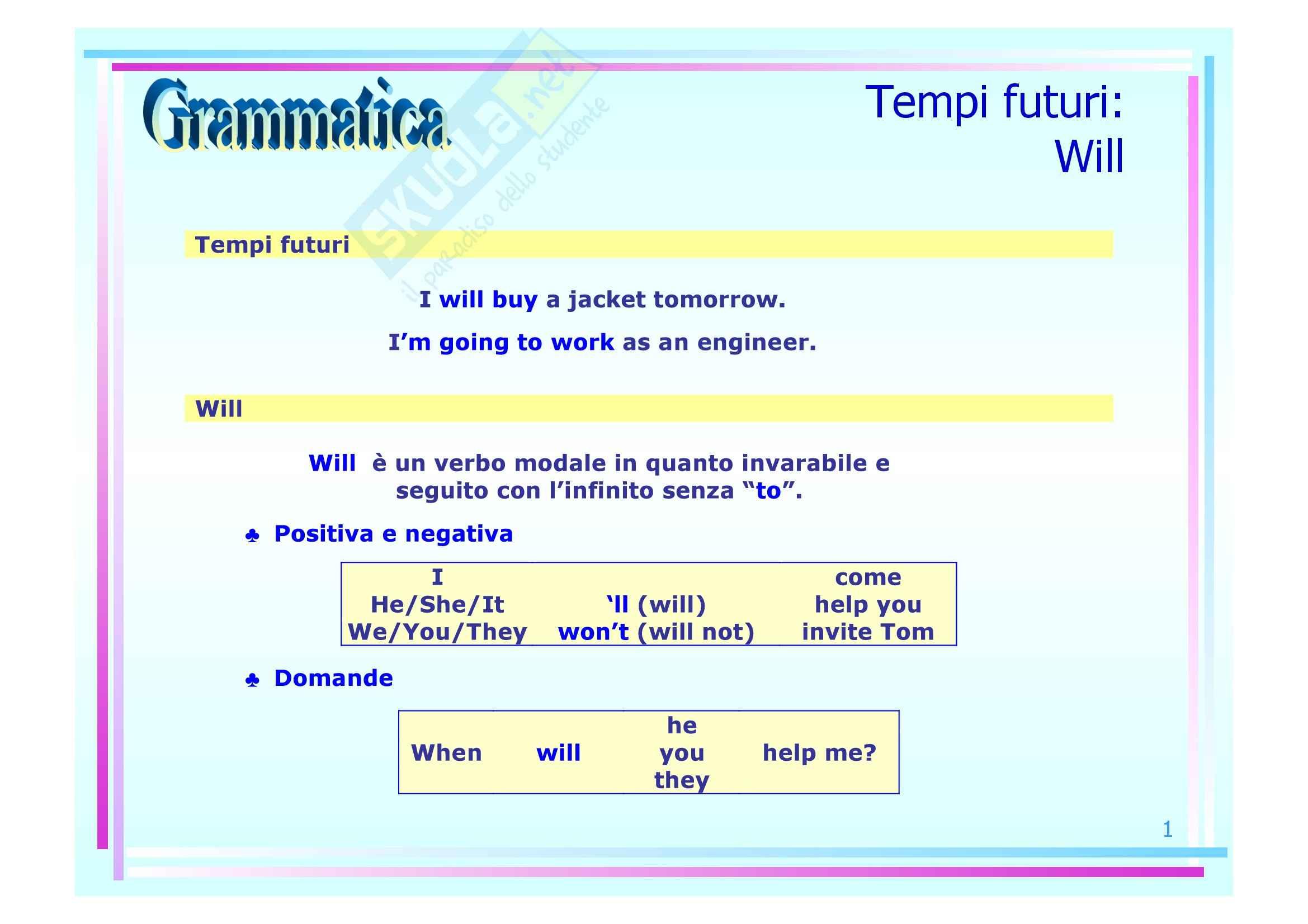 Grammatica inglese - futuro e verbi modali