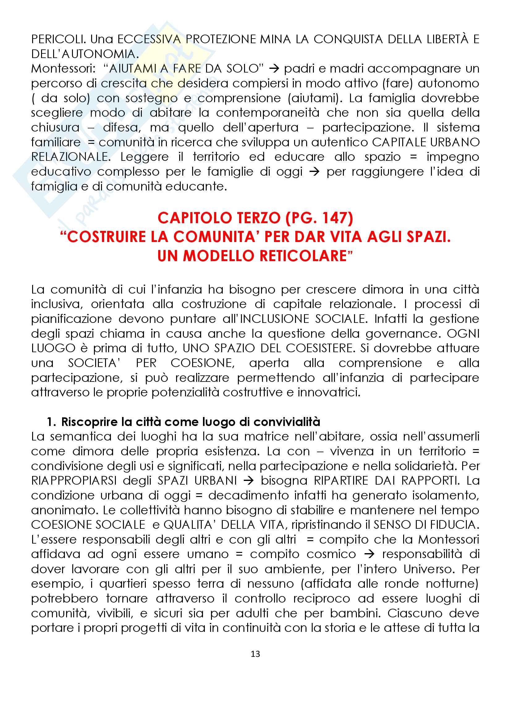 Riassunto esame pedagogia sociale, prof. Monica Amadini, libro consigliato Crescere nella città, Monica Amadini Pag. 31