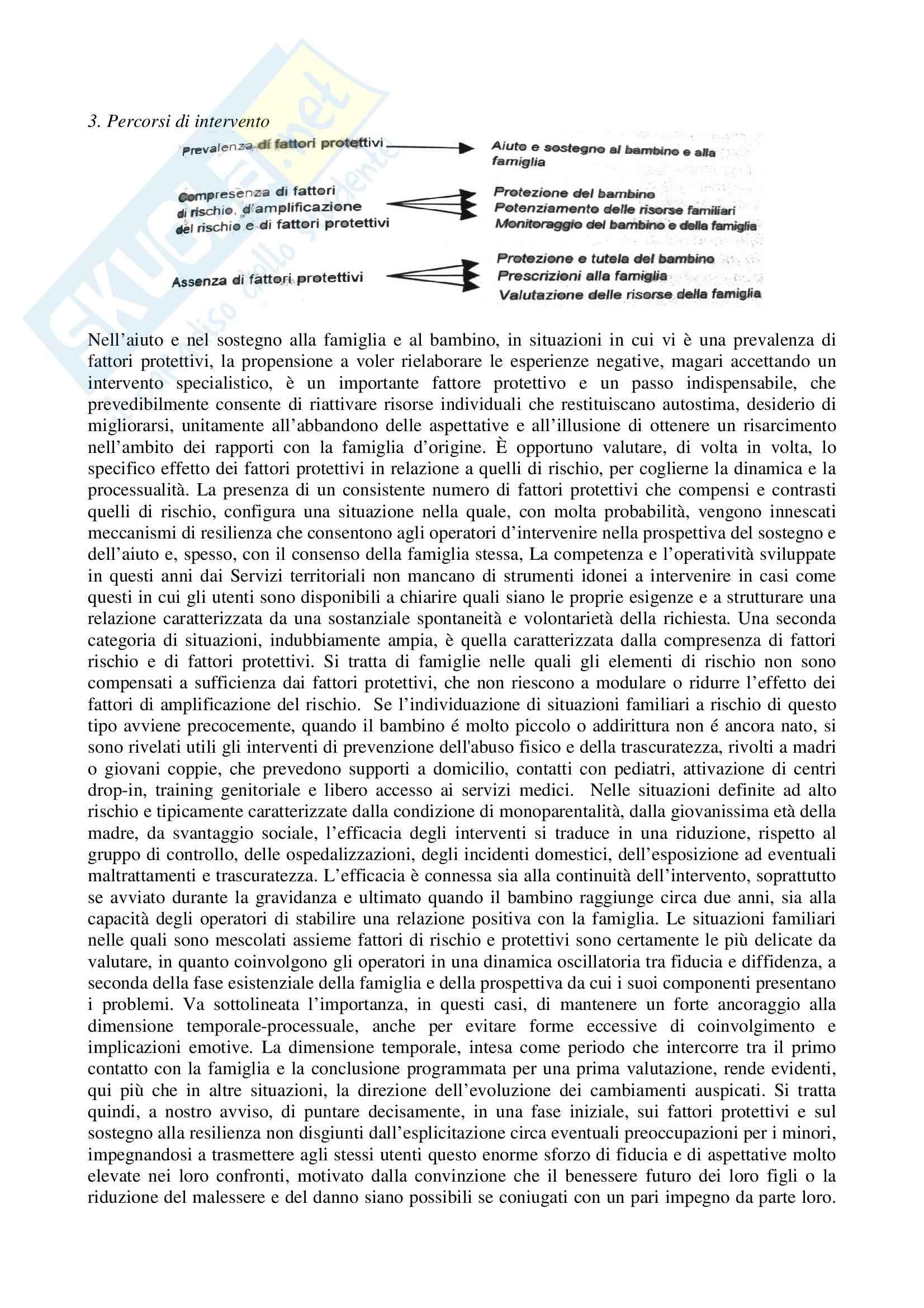 Riassunto esame Fattori di Rischio e Protezione nello Sviluppo, prof. Schimmenti, libro consigliato Tra Rischio e Protezione, Di Blasio Pag. 6