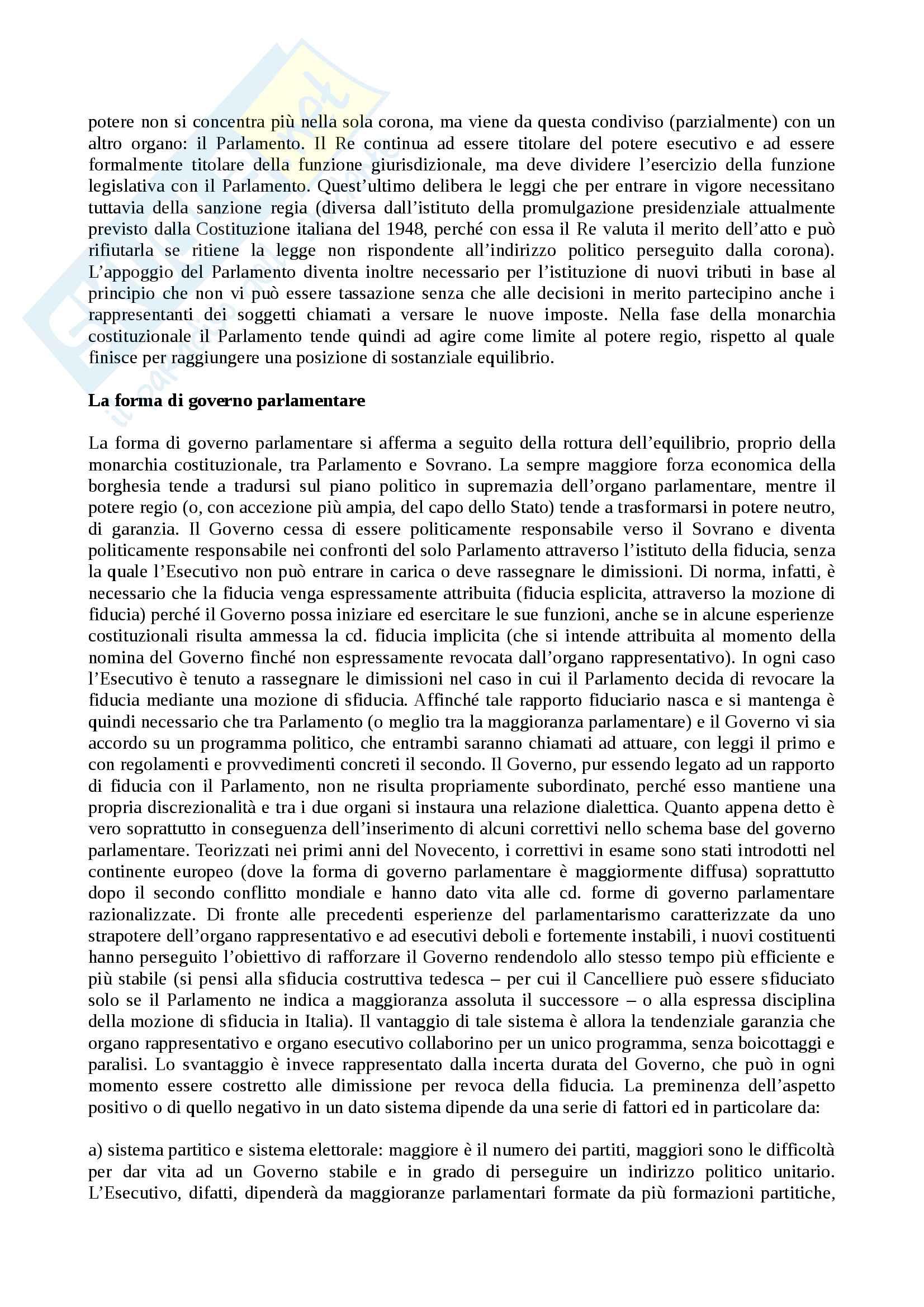 Forme di Stato e Forme di Governo - Tesina Pag. 11