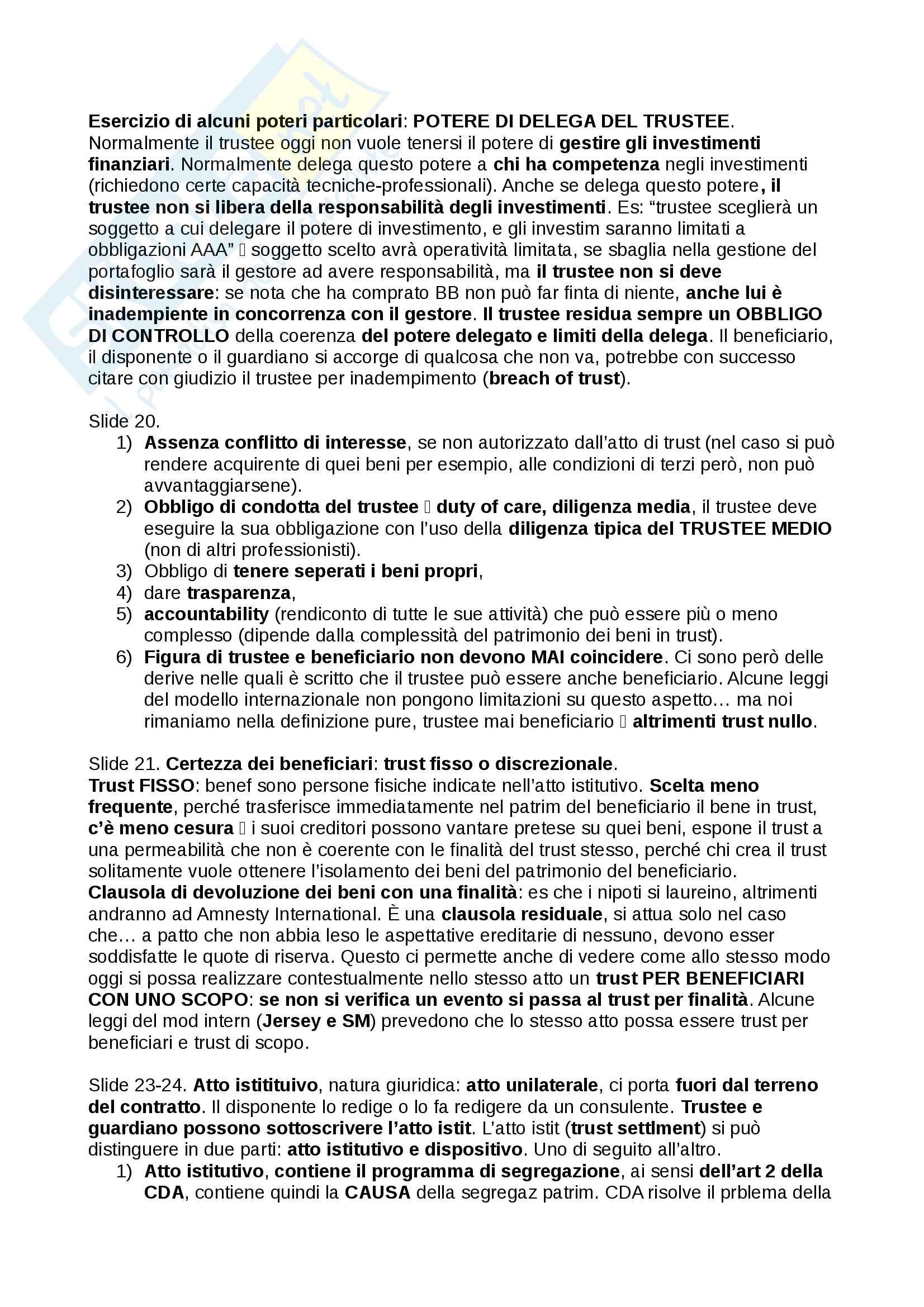 Trust, definizioni e casistiche - Diritto Commerciale Pag. 11