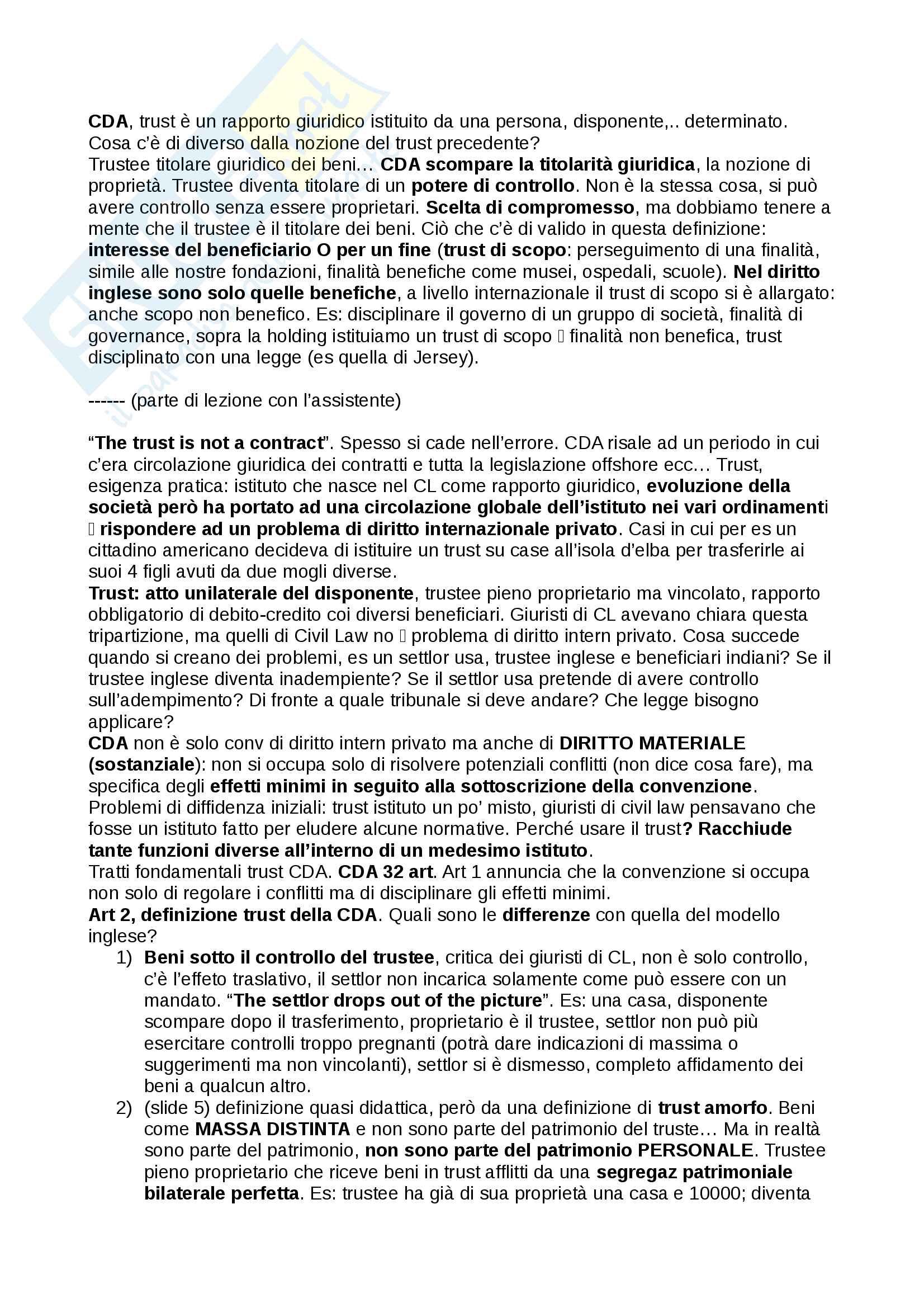 Trust, definizioni e casistiche - Diritto Commerciale Pag. 2