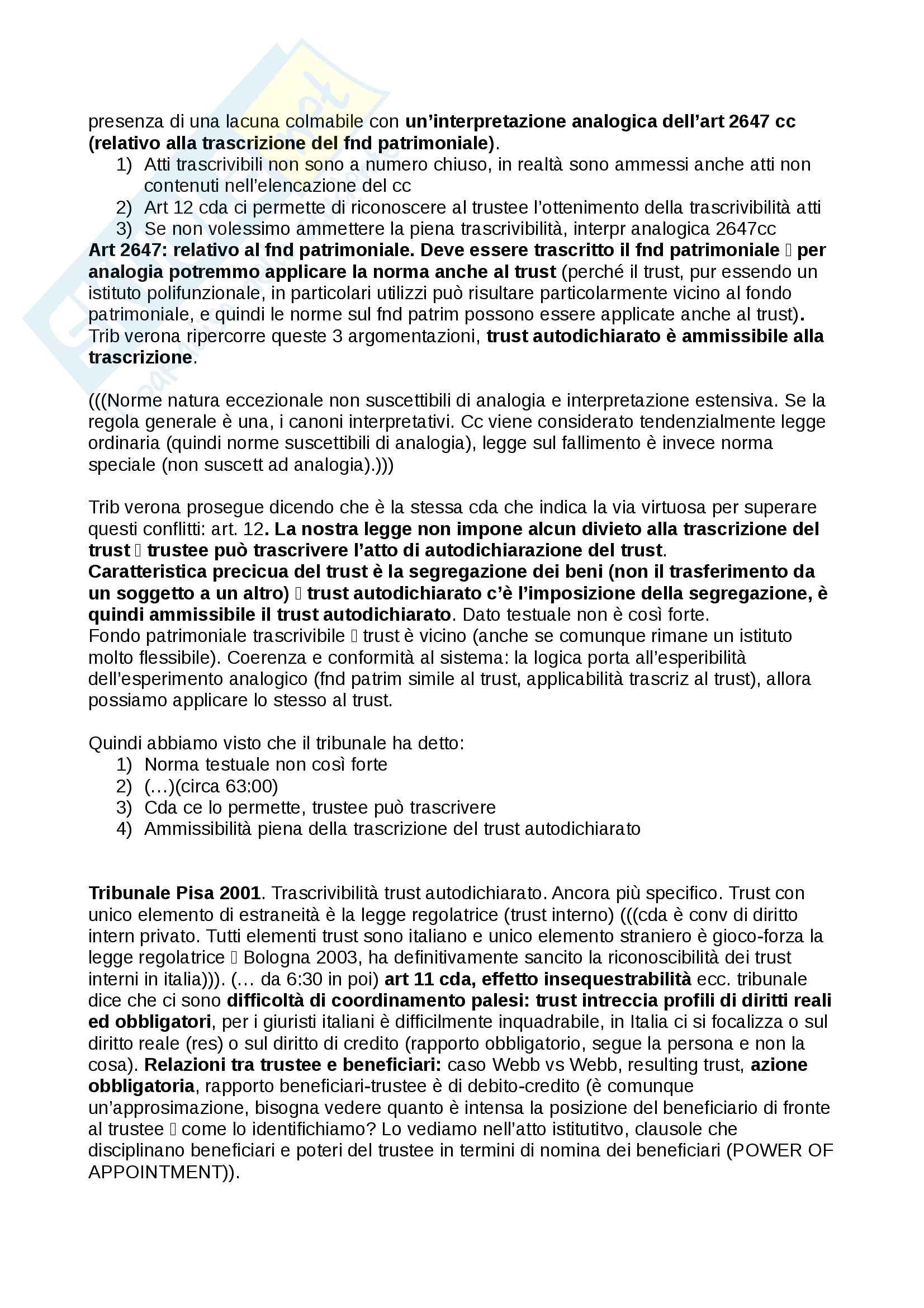 Trust, definizioni e casistiche - Diritto Commerciale Pag. 41