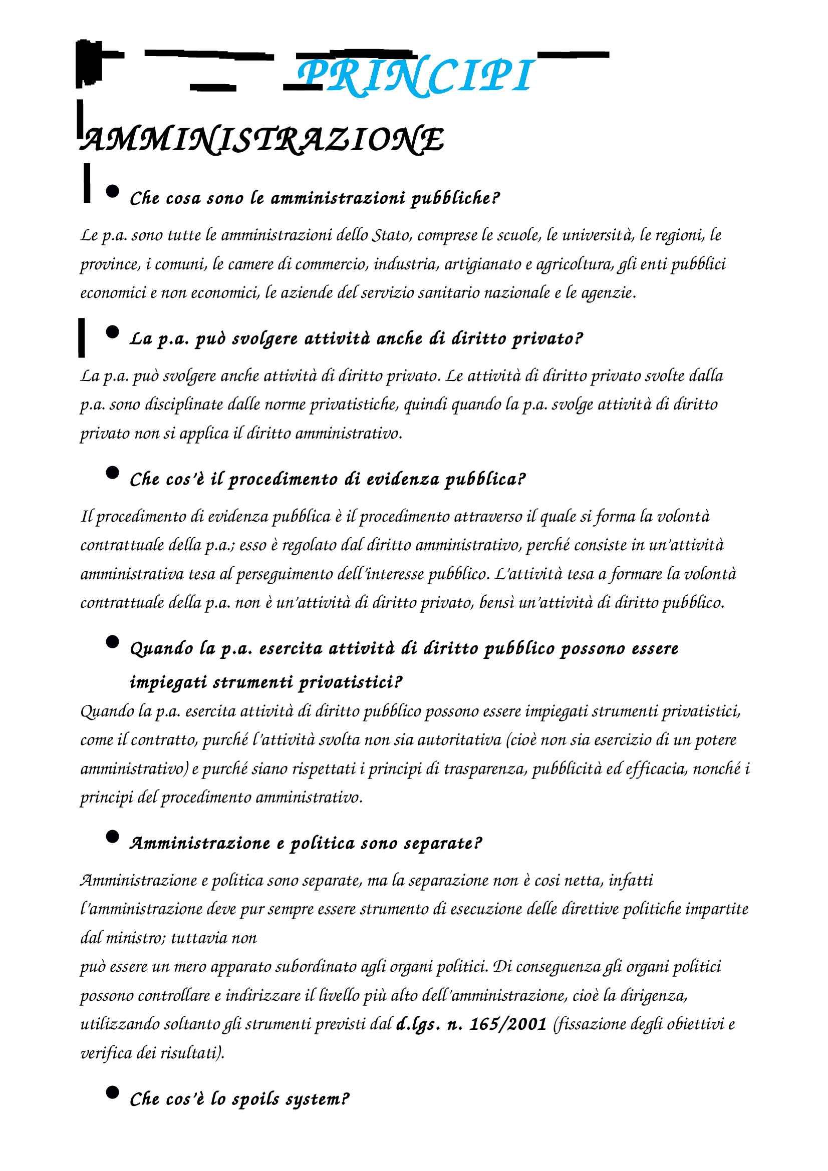 Riassunto esame Diritto Amministrativo, prof. Caia, libro consigliato Manuale di diritto amministrativo, Casetta