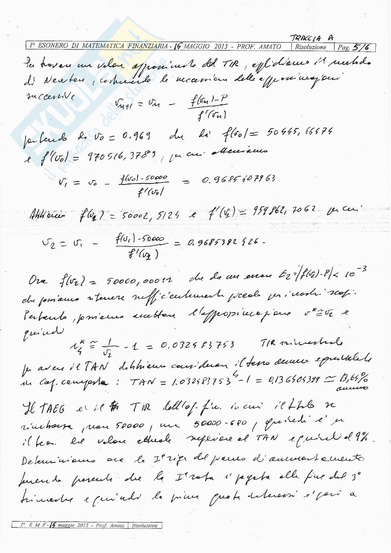 Matematica Finanziaria - esercizi svolti Pag. 6