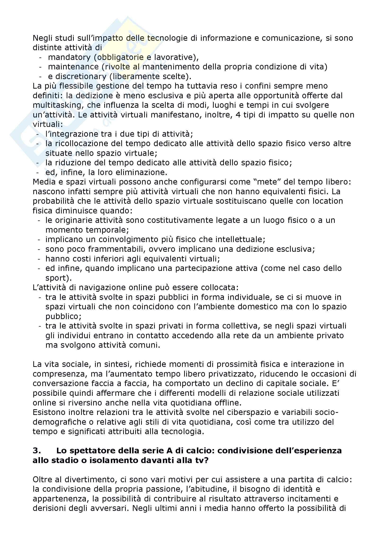 """Riassunto esame Sociologia del tempo libero, prof. Russo libro consigliato Consumare - investire il tempo libero"""", Lo Verde Pag. 16"""