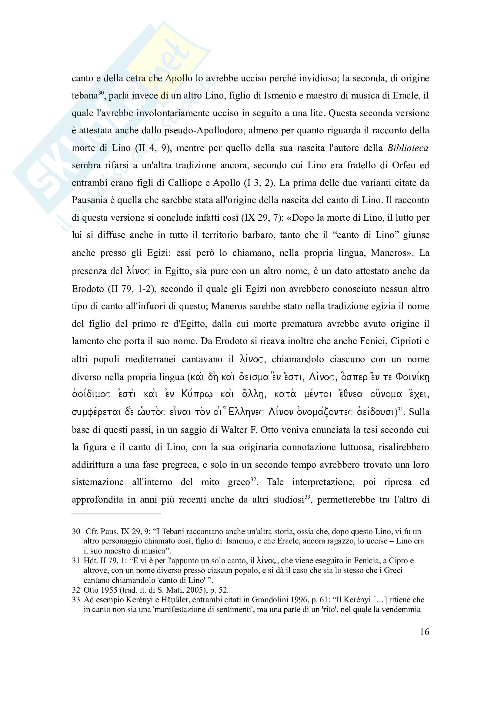 Tesi - Canto e scene di canto nell'Iliade e nell'Odissea Pag. 16