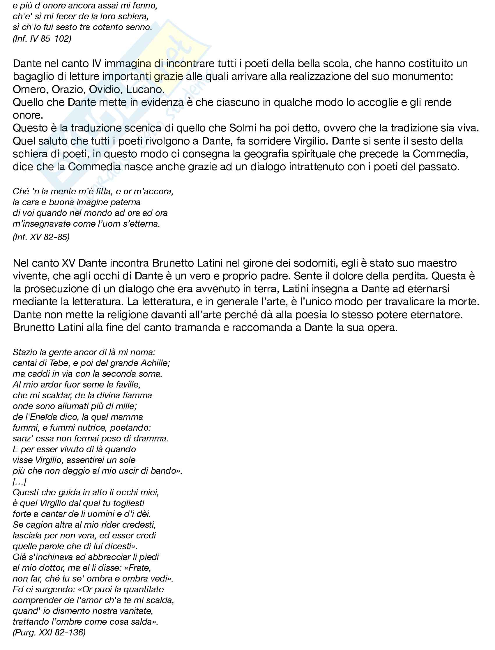 Appunti di Letteratura Italiana - I modulo - Prof D'Alessandro Pag. 6