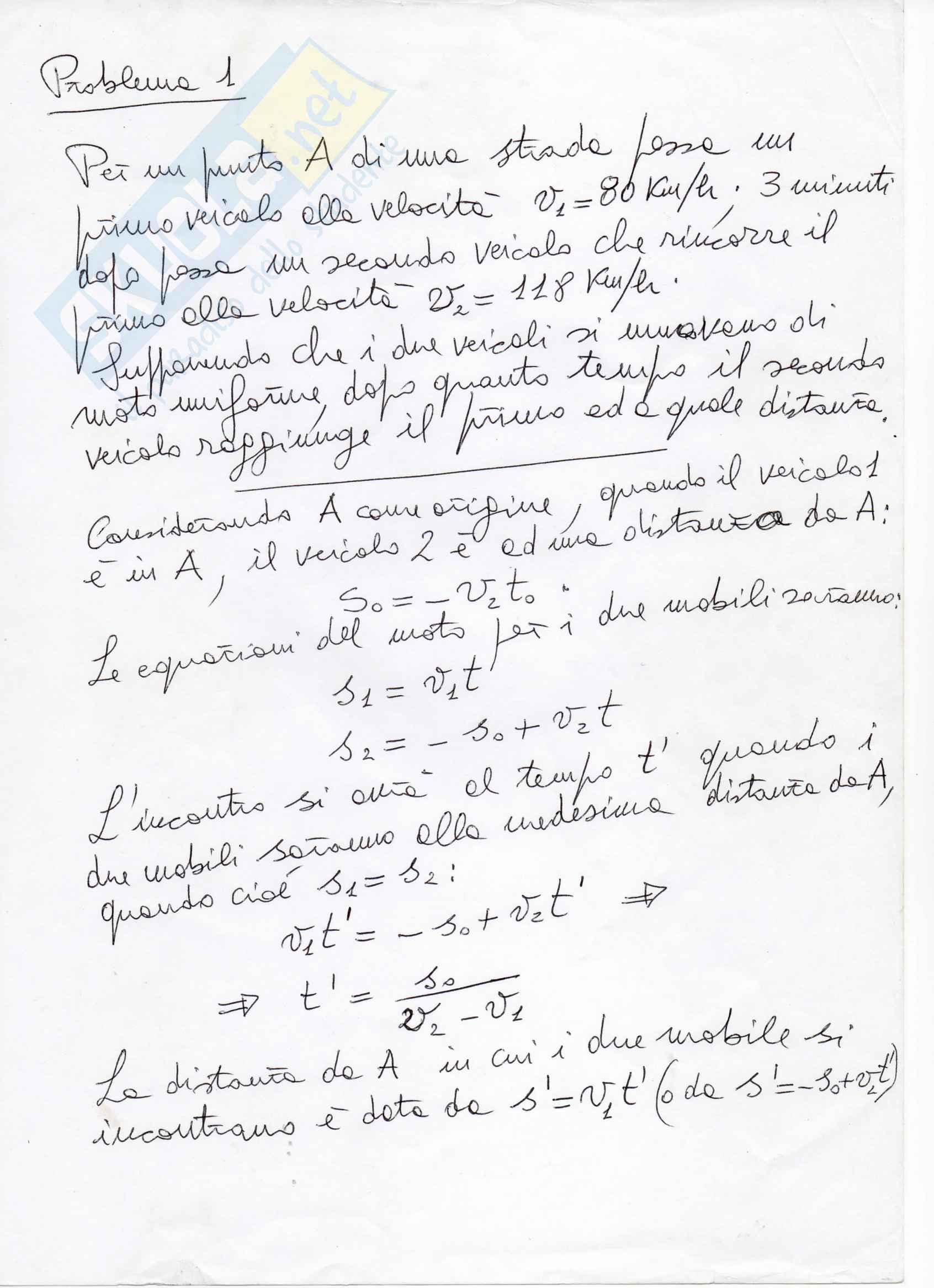 Problemi d'esame sulla Meccanica