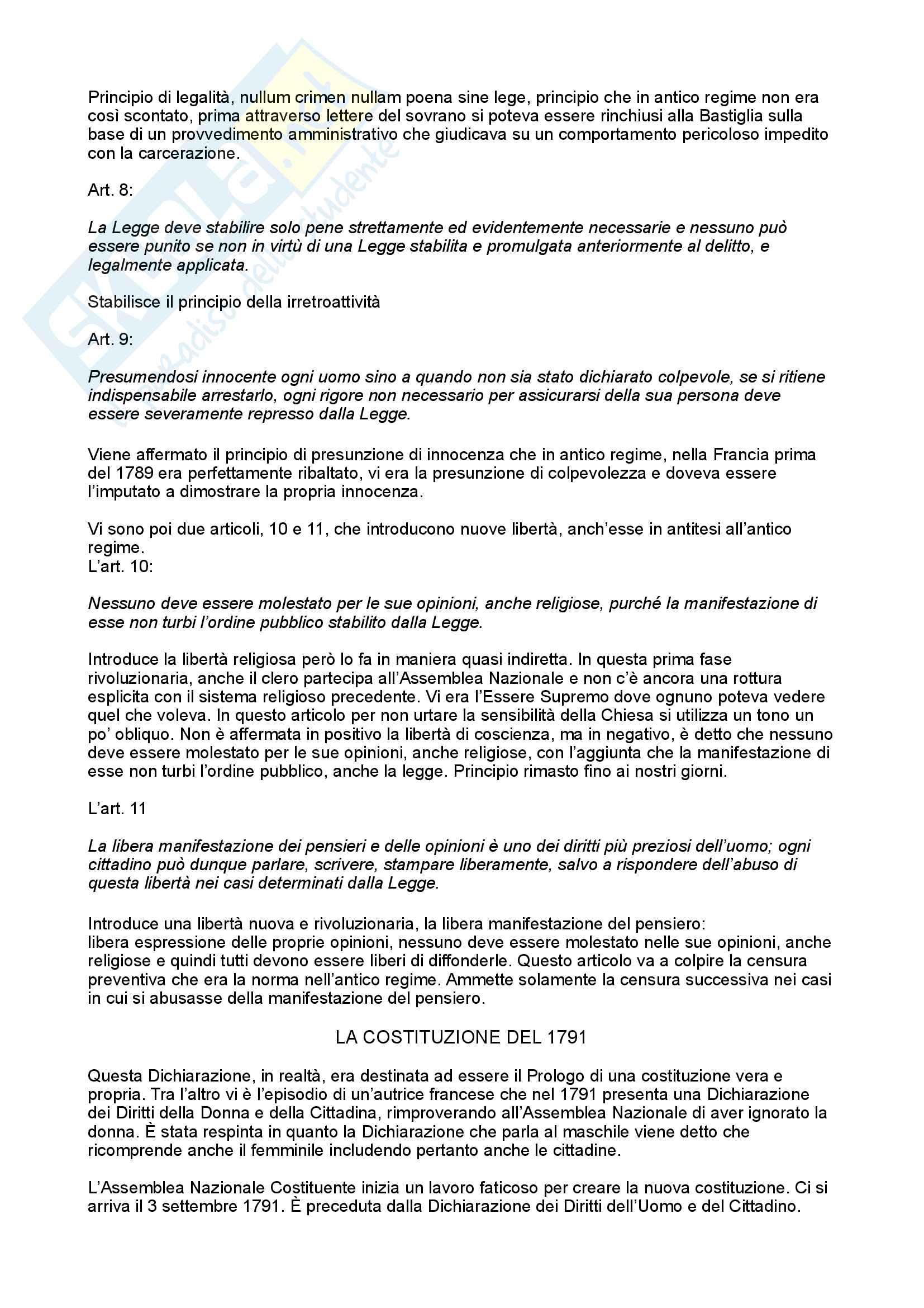Storia delle costituzioni e codificazioni moderne Pag. 46