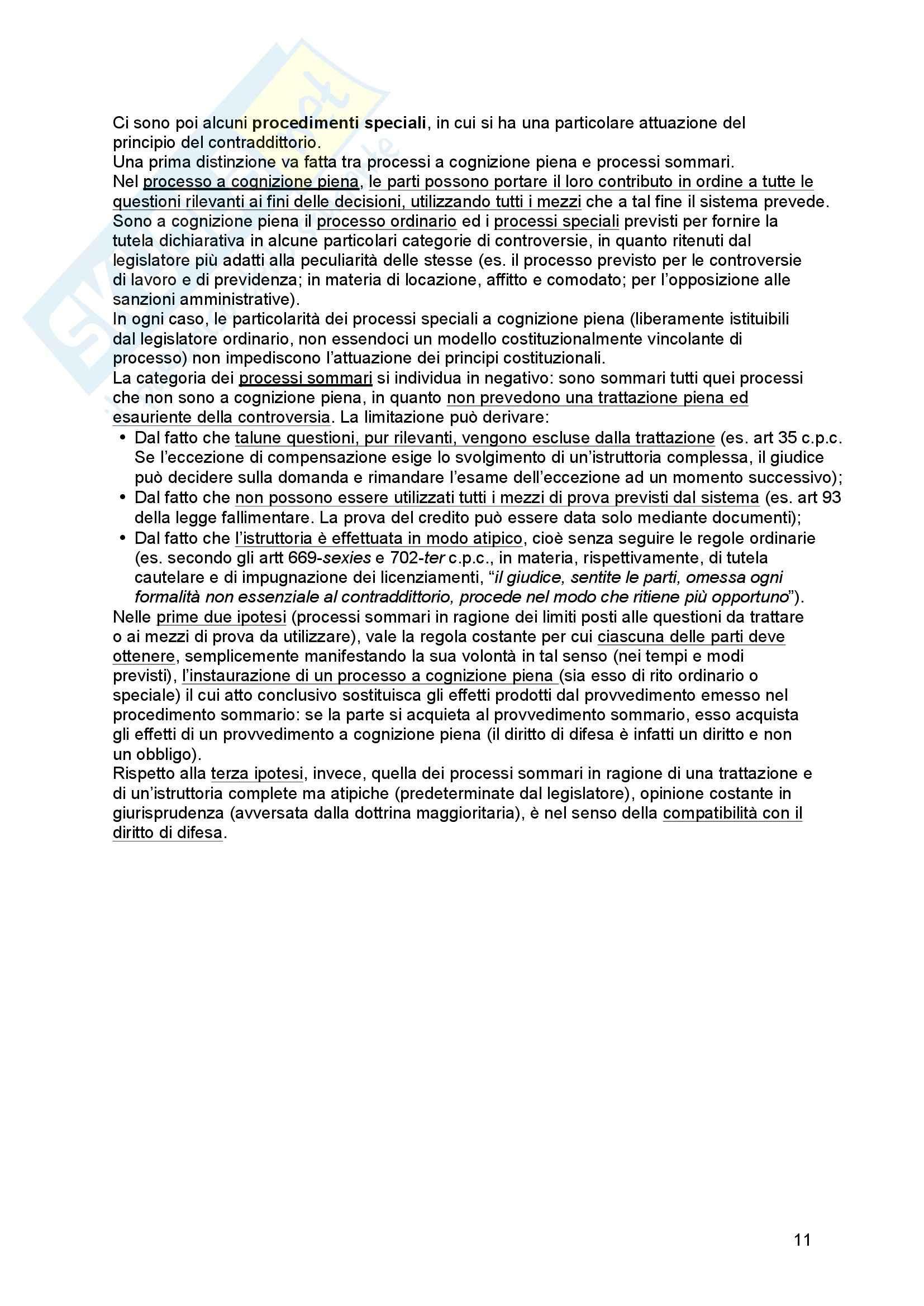 Riassunto esame Diritto processuale Civile, prof. Tedoldi, libro consigliato Diritto processuale civile,vol. 1, Luiso Pag. 11