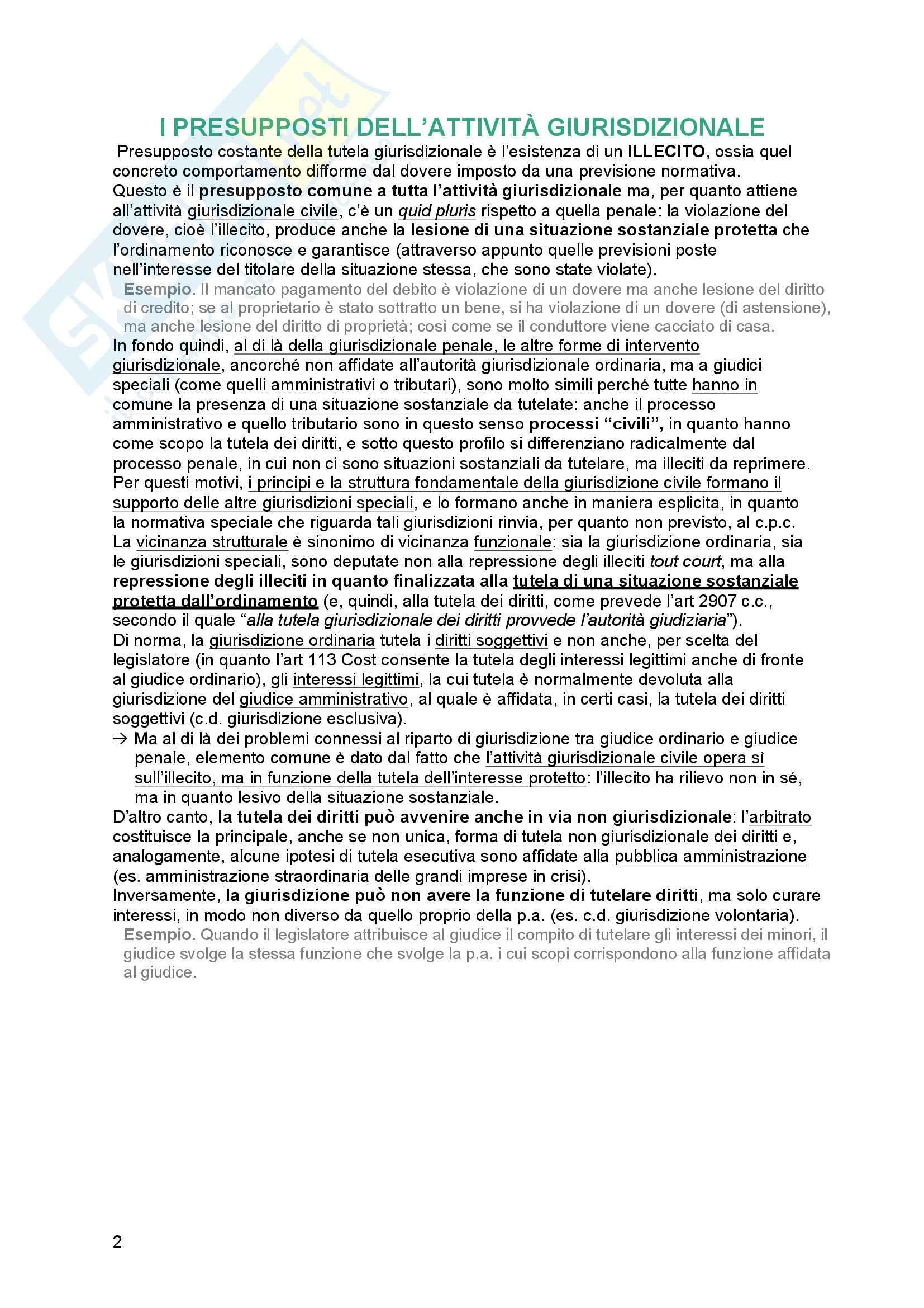 Riassunto esame Diritto processuale Civile, prof. Tedoldi, libro consigliato Diritto processuale civile,vol. 1, Luiso Pag. 2