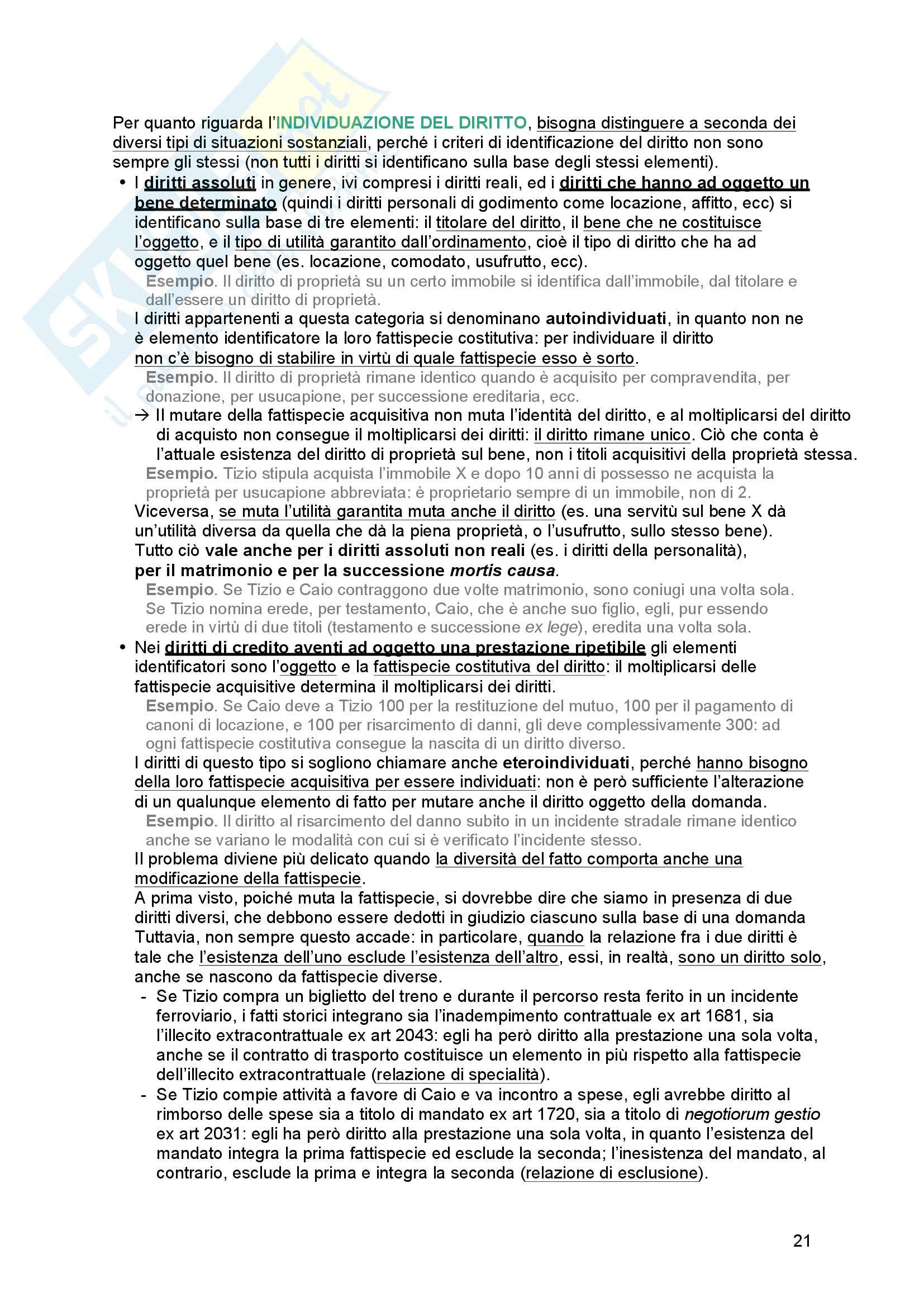 Riassunto esame Diritto processuale Civile, prof. Tedoldi, libro consigliato Diritto processuale civile,vol. 1, Luiso Pag. 21