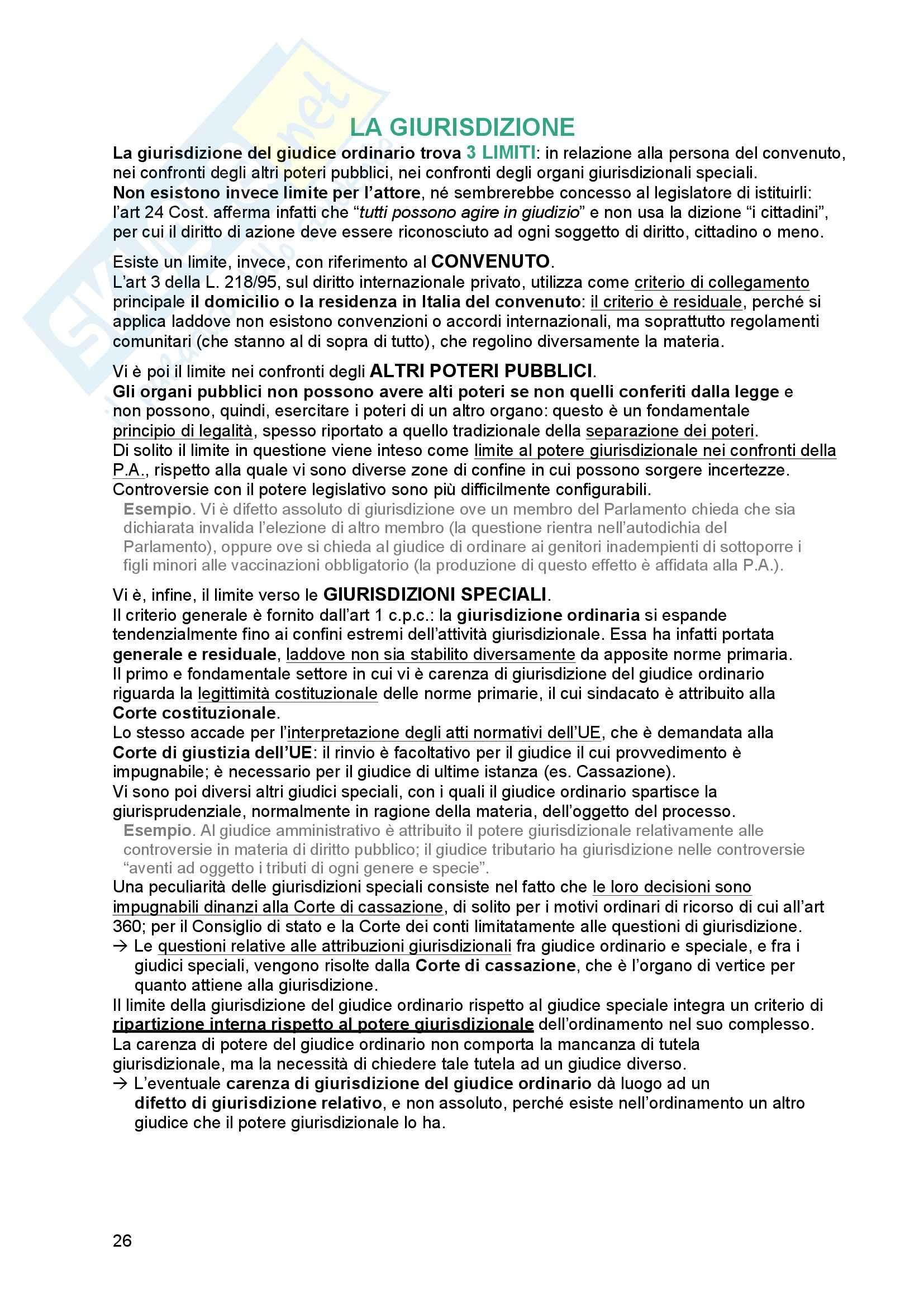 Riassunto esame Diritto processuale Civile, prof. Tedoldi, libro consigliato Diritto processuale civile,vol. 1, Luiso Pag. 26