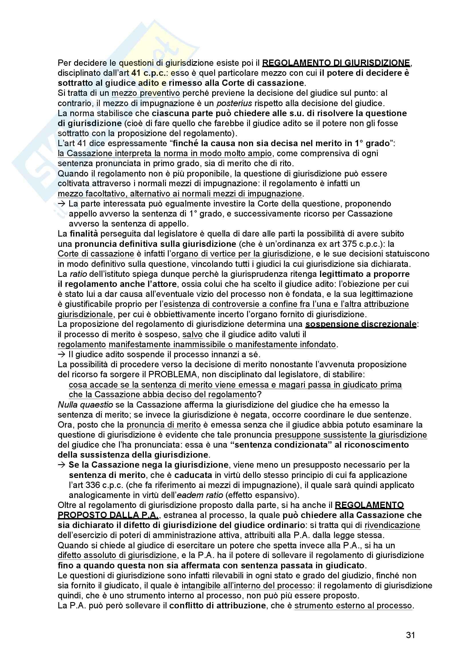 Riassunto esame Diritto processuale Civile, prof. Tedoldi, libro consigliato Diritto processuale civile,vol. 1, Luiso Pag. 31