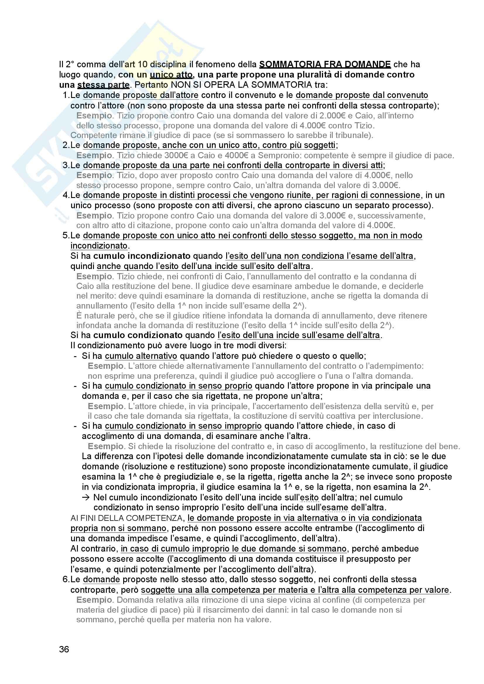 Riassunto esame Diritto processuale Civile, prof. Tedoldi, libro consigliato Diritto processuale civile,vol. 1, Luiso Pag. 36
