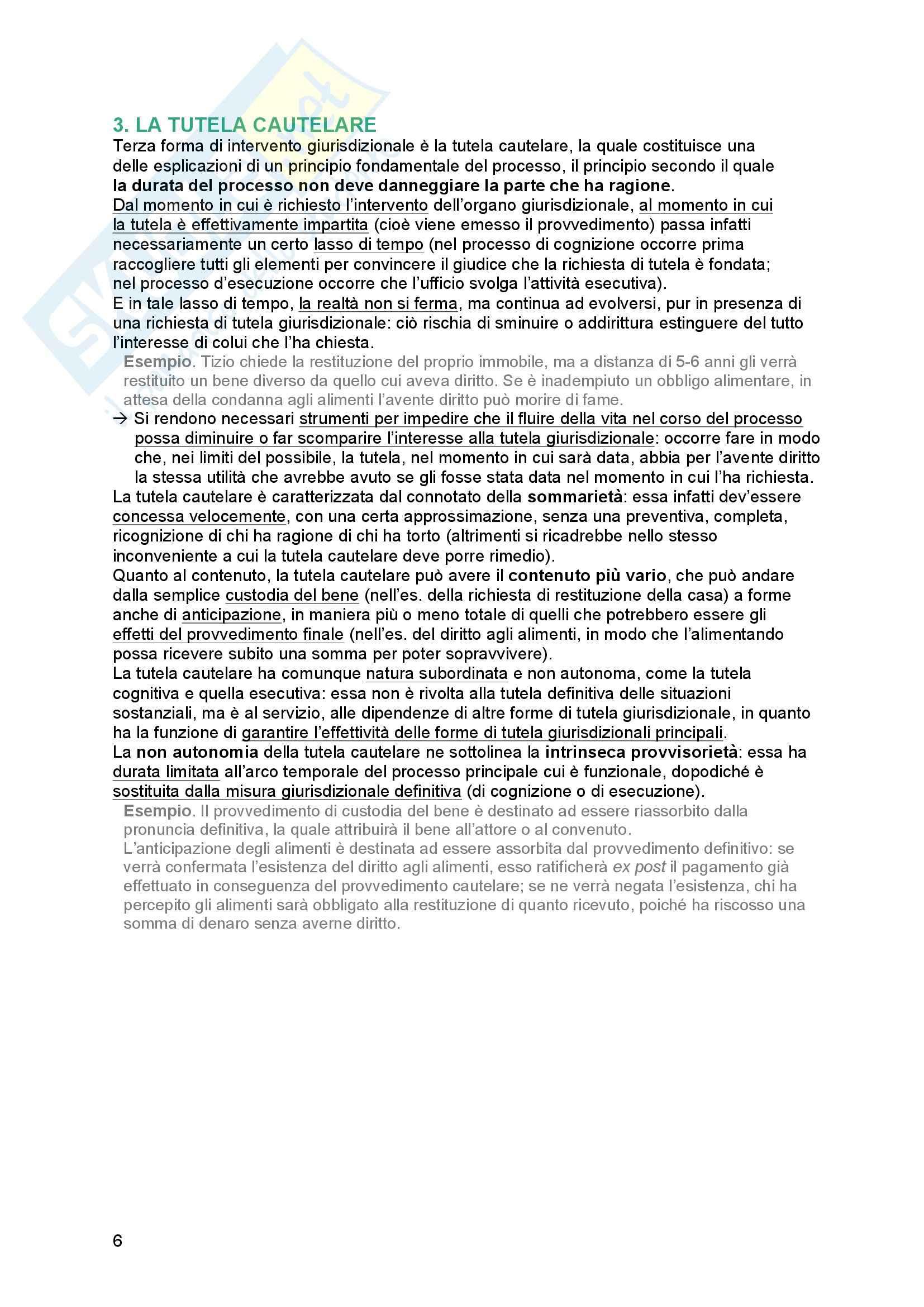 Riassunto esame Diritto processuale Civile, prof. Tedoldi, libro consigliato Diritto processuale civile,vol. 1, Luiso Pag. 6
