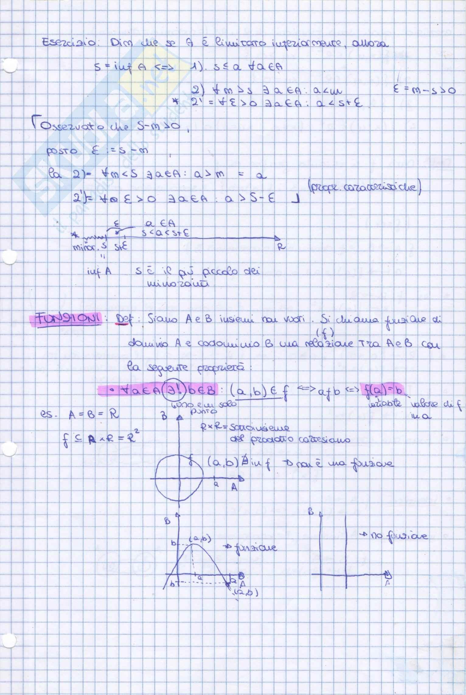 Funzioni: Appunti di Analisi matematica I