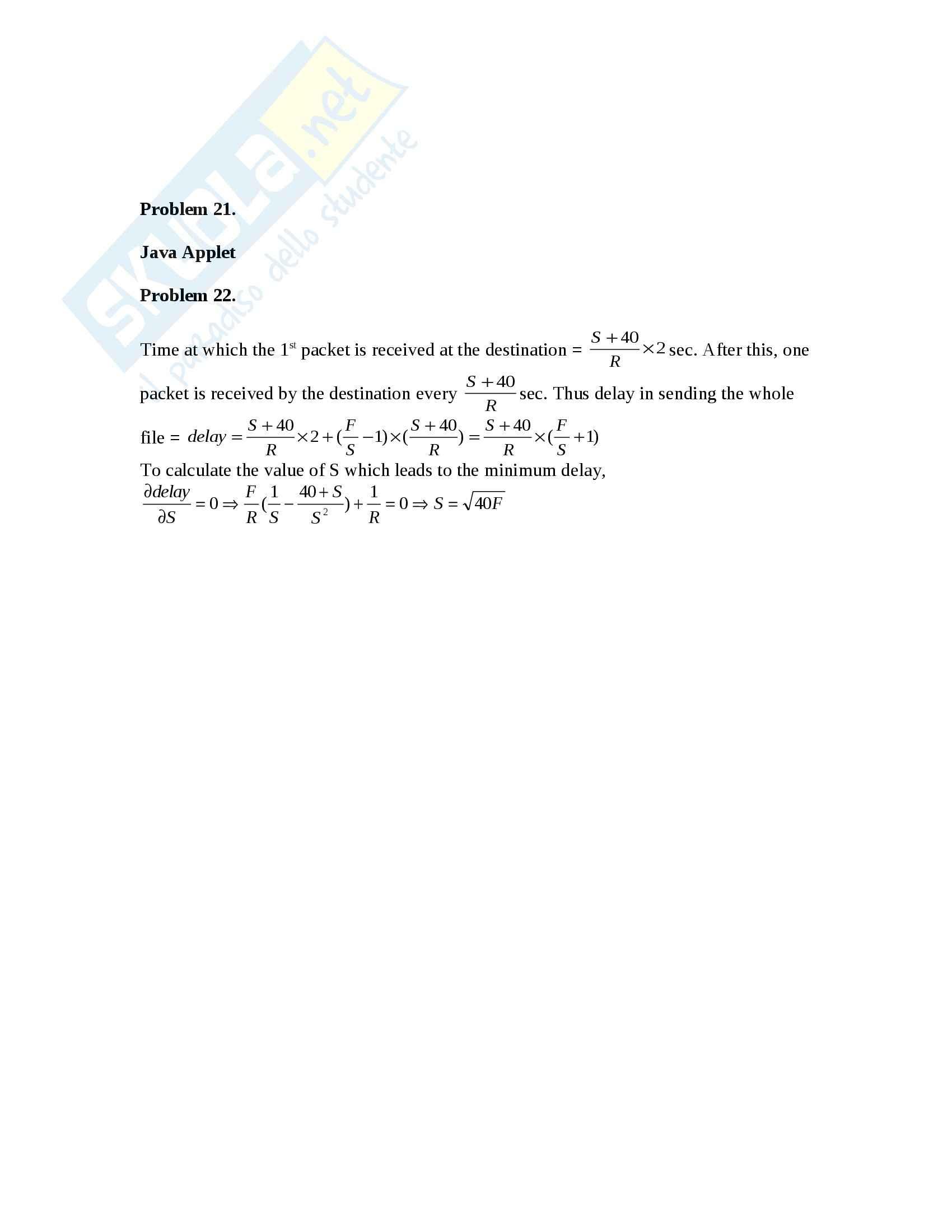Reti di Calcolatori - Esercizi Pag. 11