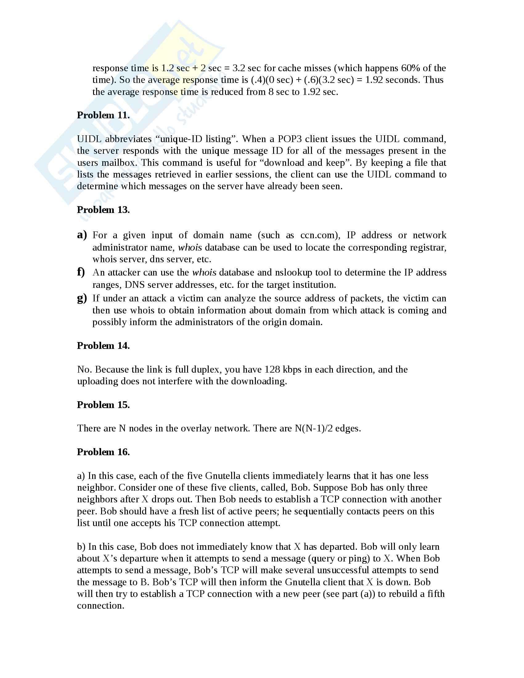 Reti di Calcolatori - Esercizi Pag. 16