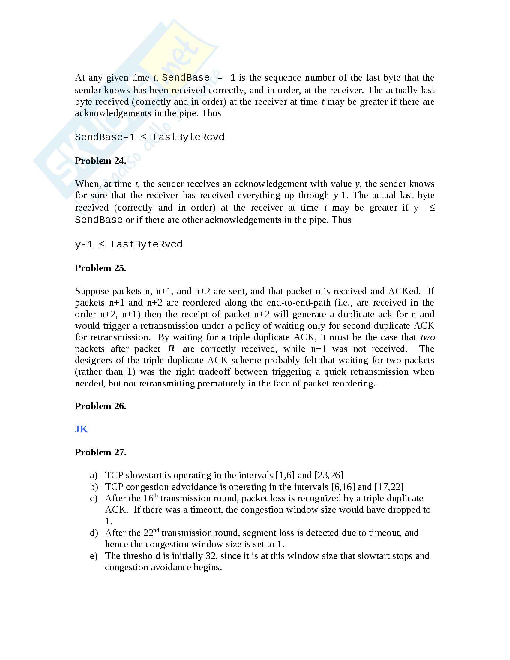 Reti di Calcolatori - Esercizi Pag. 31