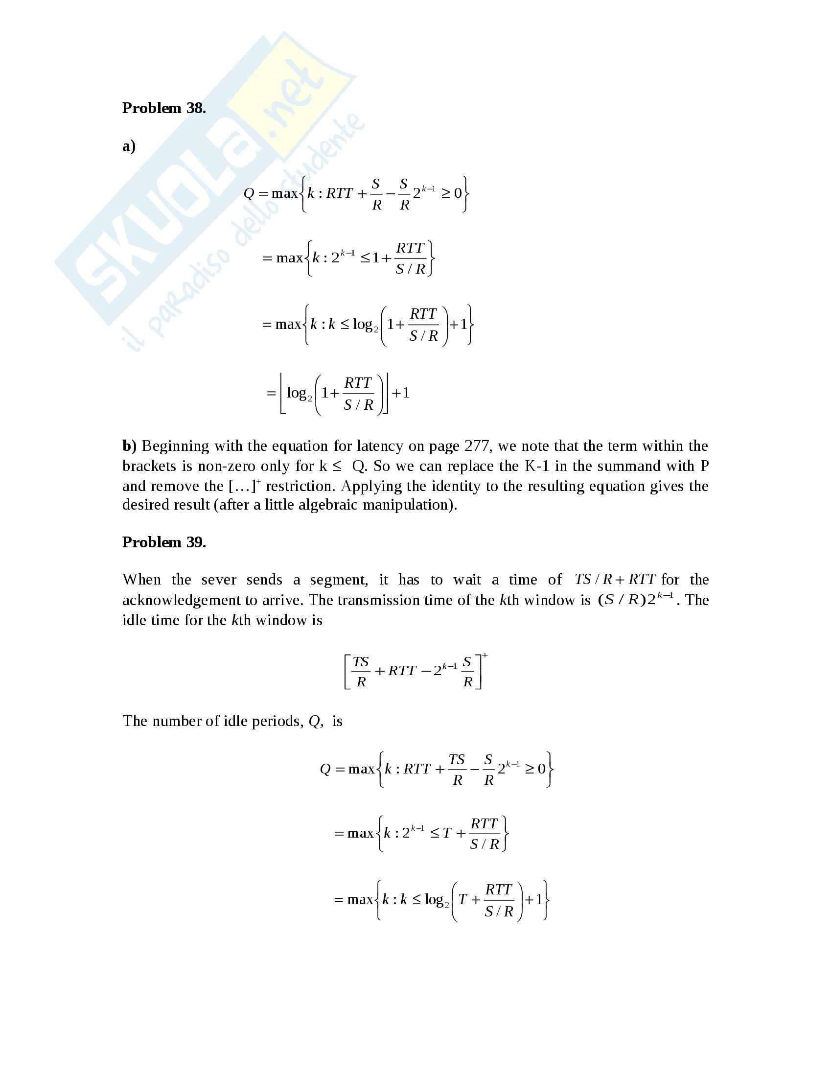 Reti di Calcolatori - Esercizi Pag. 36