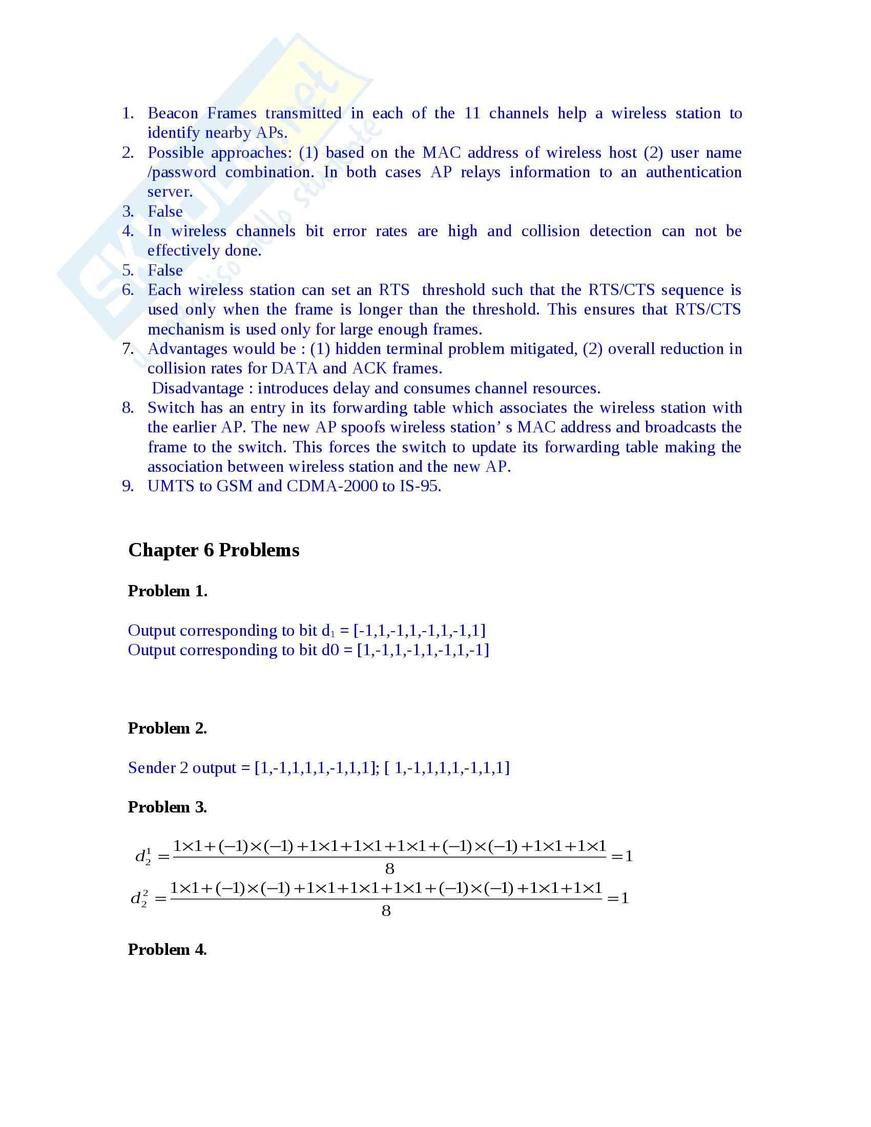 Reti di Calcolatori - Esercizi Pag. 61