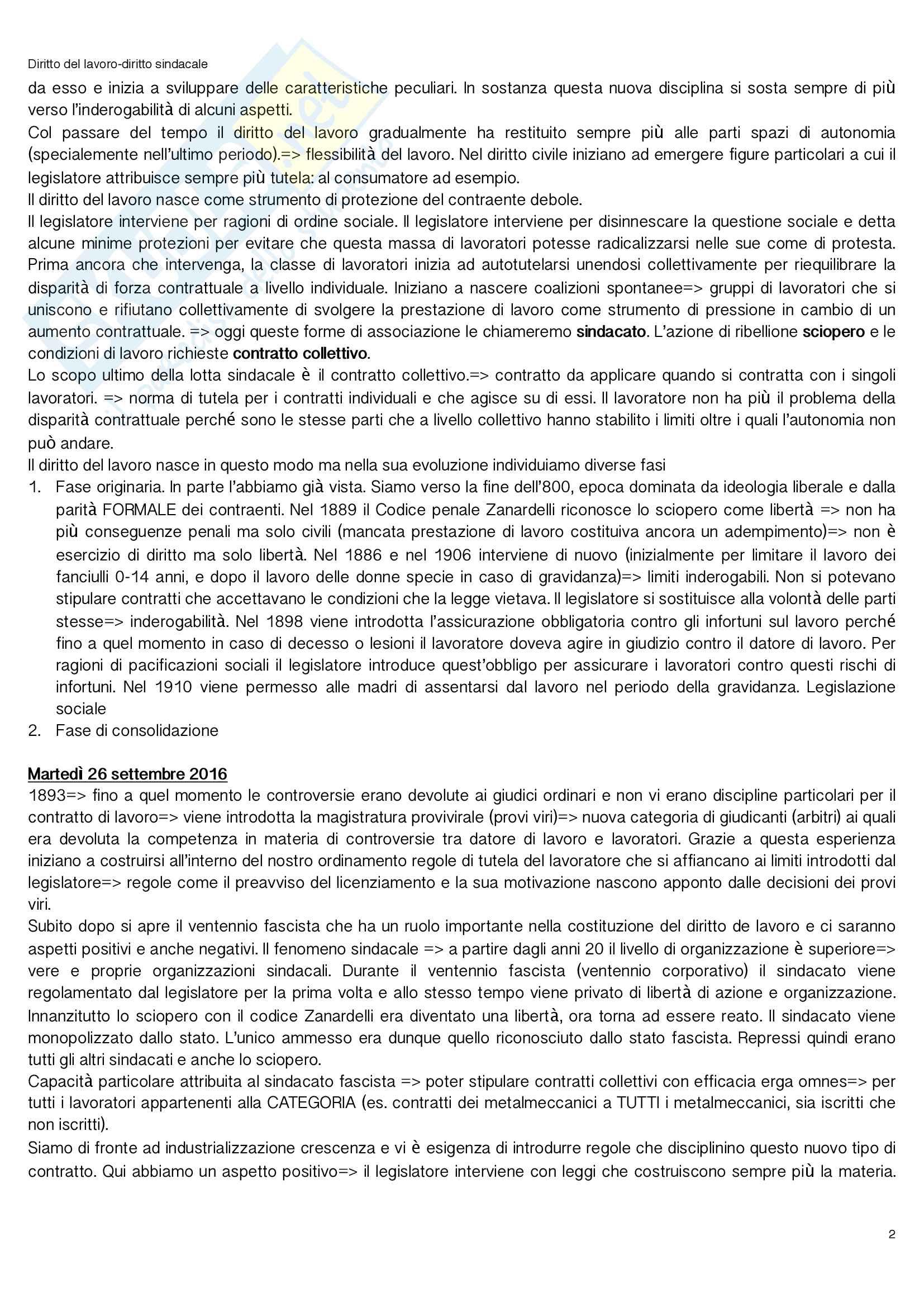 Diritto del lavoro lavoro sindacale Pag. 2