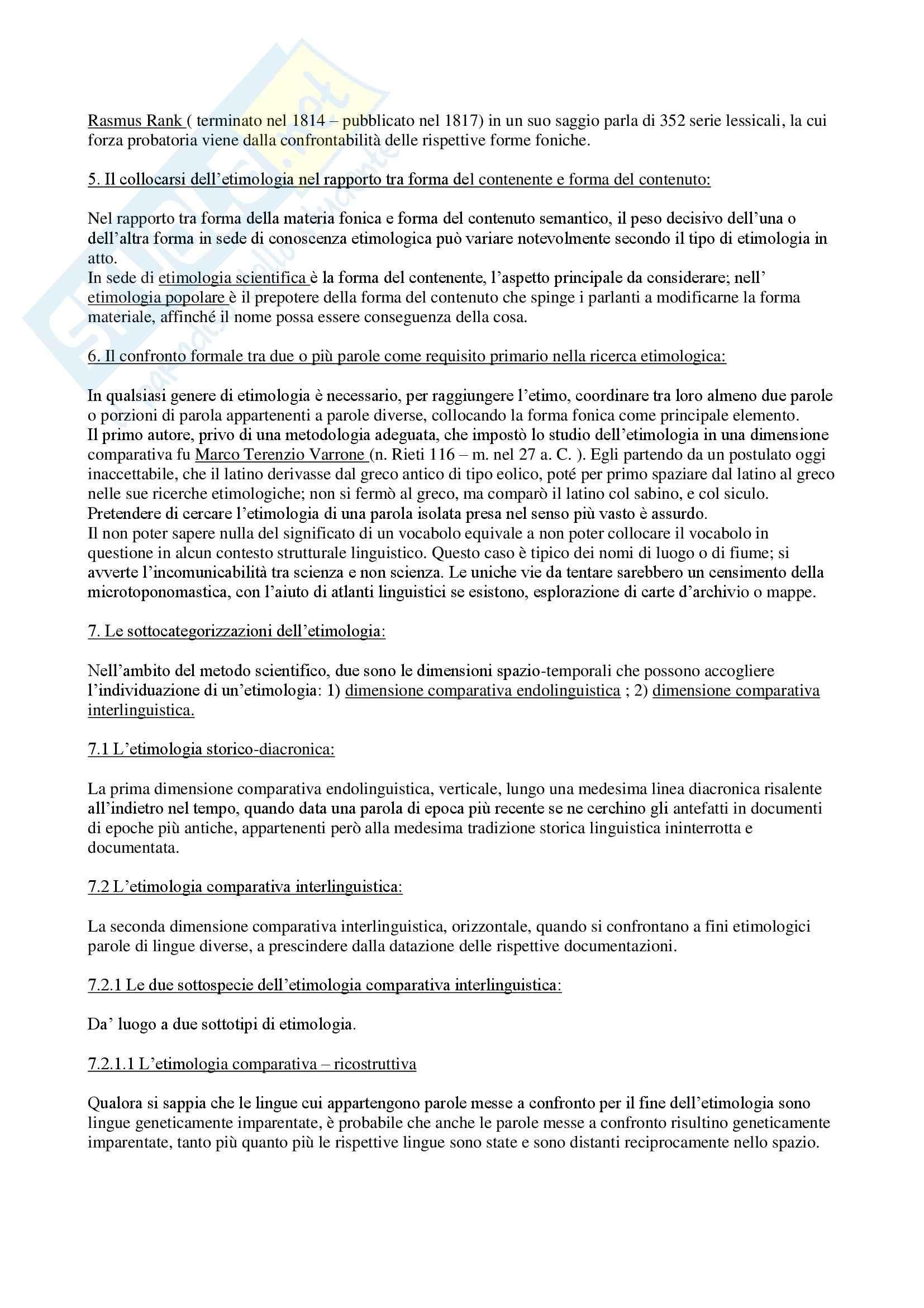 Etimologia - Appunti Pag. 2