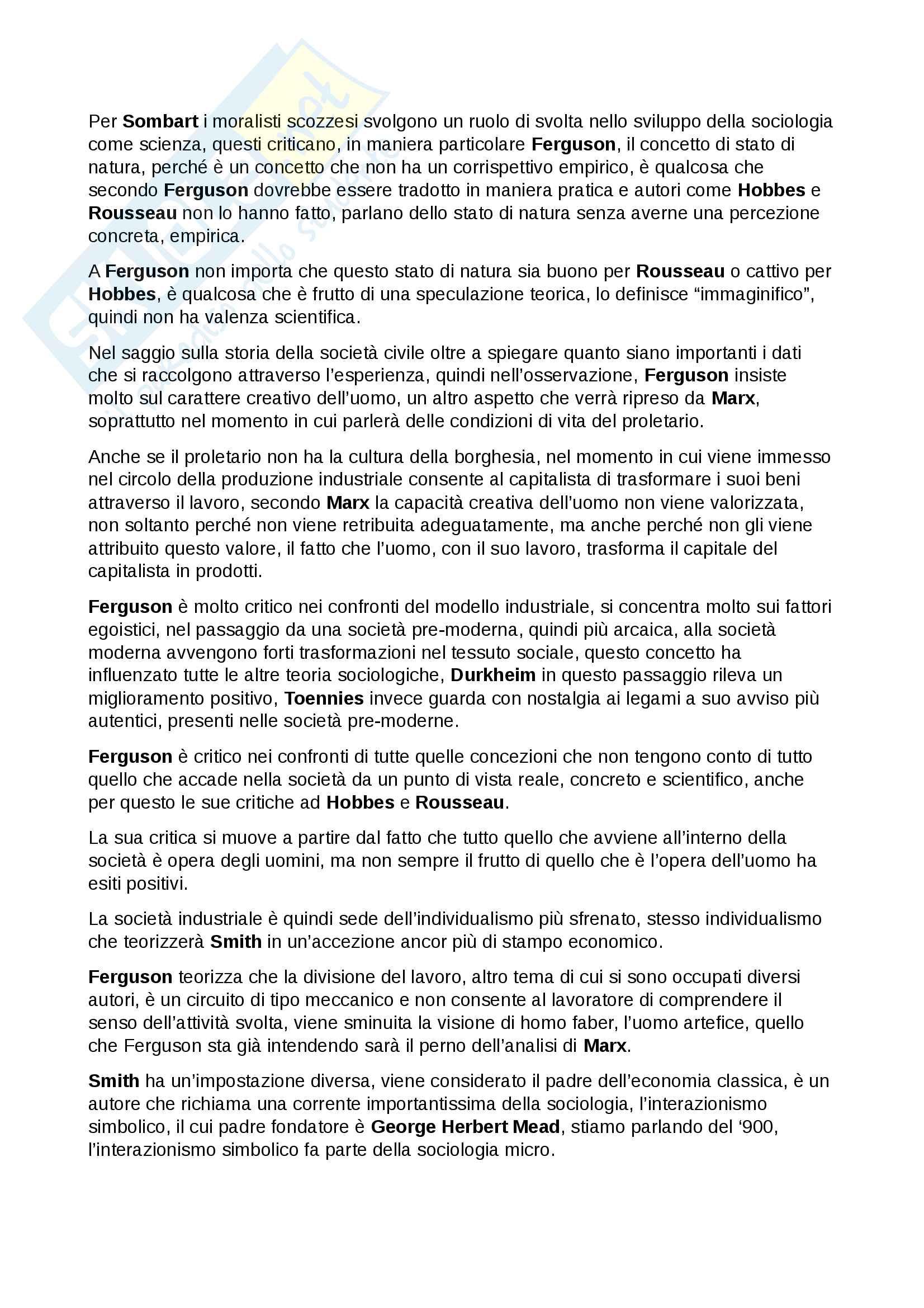 Esame Istituzioni di sociologia prof. Ciampi Pag. 11