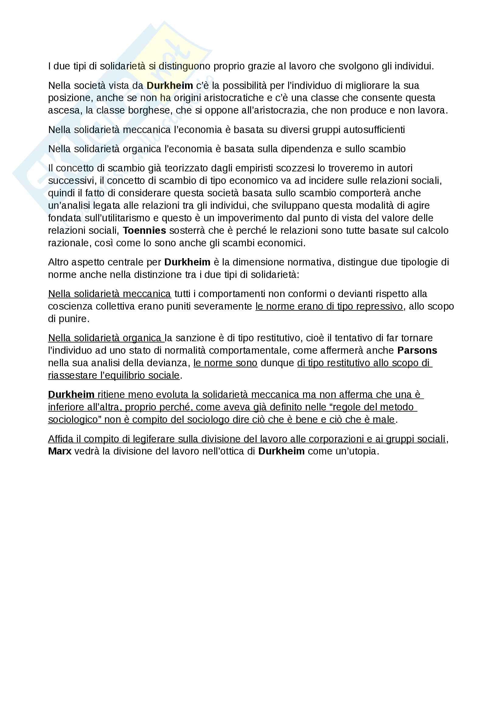 Esame Istituzioni di sociologia prof. Ciampi Pag. 21