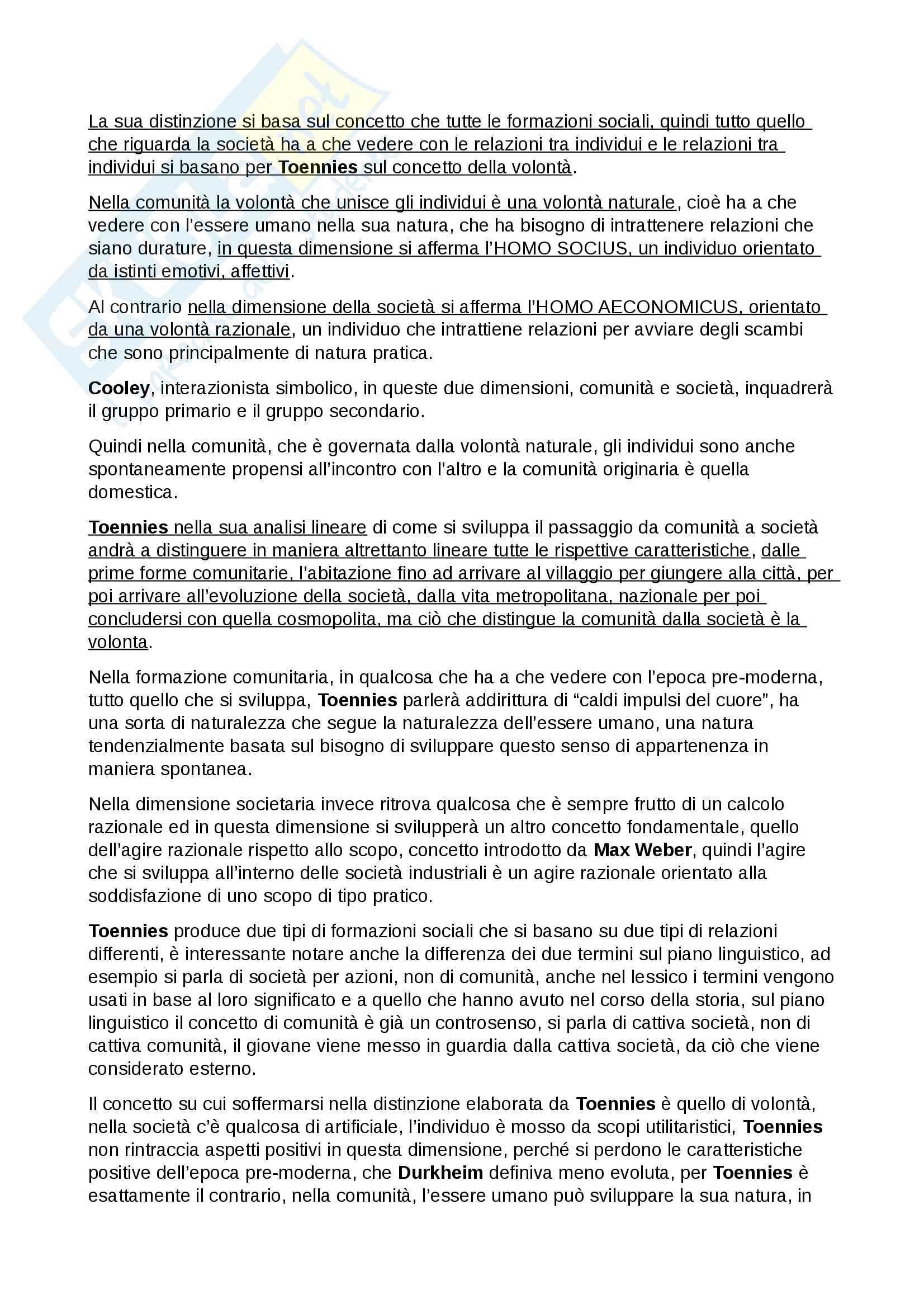Esame Istituzioni di sociologia prof. Ciampi Pag. 36